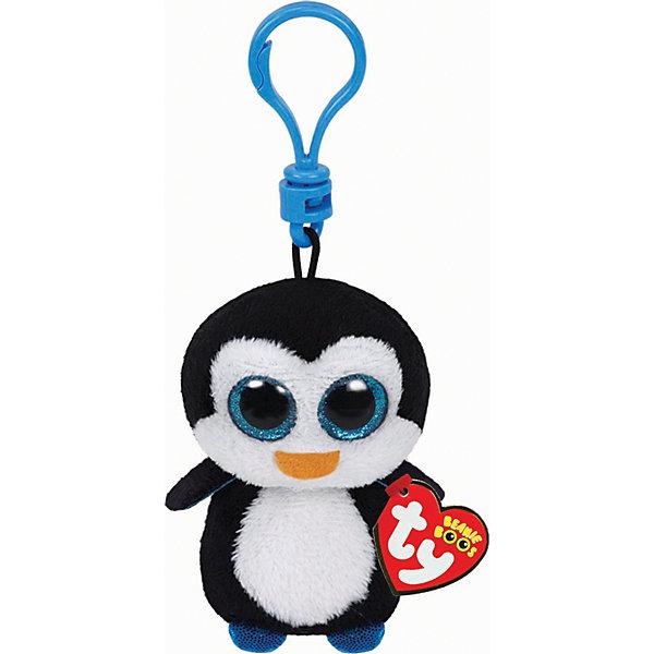 Мягкая игрушка-брелок Ty Inc Beanie Boos Пингвин Waddles, 8 смМягкие игрушки животные<br>Пингвин Waddles на брелке, 12 см, Tyс невероятно добрыми искренними глазками обязательно понравится Вашему ребенку.<br>Пингвин Waddles от Ty всегда может быть рядом! Он с удовольствием поселится на рюкзаке, телефоне или связке ключей. Игрушка выполнена в виде брелока. Пристегнуть ее можно с помощью карабина. У пингвина мягкая черно-белая шерстка, лапки и внутренняя сторона крылышек голубого цвета. Его большие, яркие блестящие глазки - одна из главных особенностей игрушки, которая вызывает невероятное умиление! Игрушка сделана из высококачественных материалов и безопасна для здоровья ребенка.<br><br>Дополнительная информация:<br><br>- Яркие и стойкие цвета приятны для глаз<br>- Материал: текстиль, искусственный мех<br>- Наполнение: синтепон<br>- Глазки пластиковые<br>- Высота игрушки: 12 см.<br><br>Игрушка Пингвин Waddles на брелке, 12 см, Ty - подарите себе и своему ребенку частичку радости!<br><br>Игрушку Пингвин Waddles на брелке, 12 см, Ty можно купить в нашем интернет-магазине.<br>Ширина мм: 70; Глубина мм: 45; Высота мм: 55; Вес г: 24; Возраст от месяцев: 36; Возраст до месяцев: 1188; Пол: Унисекс; Возраст: Детский; SKU: 3147330;