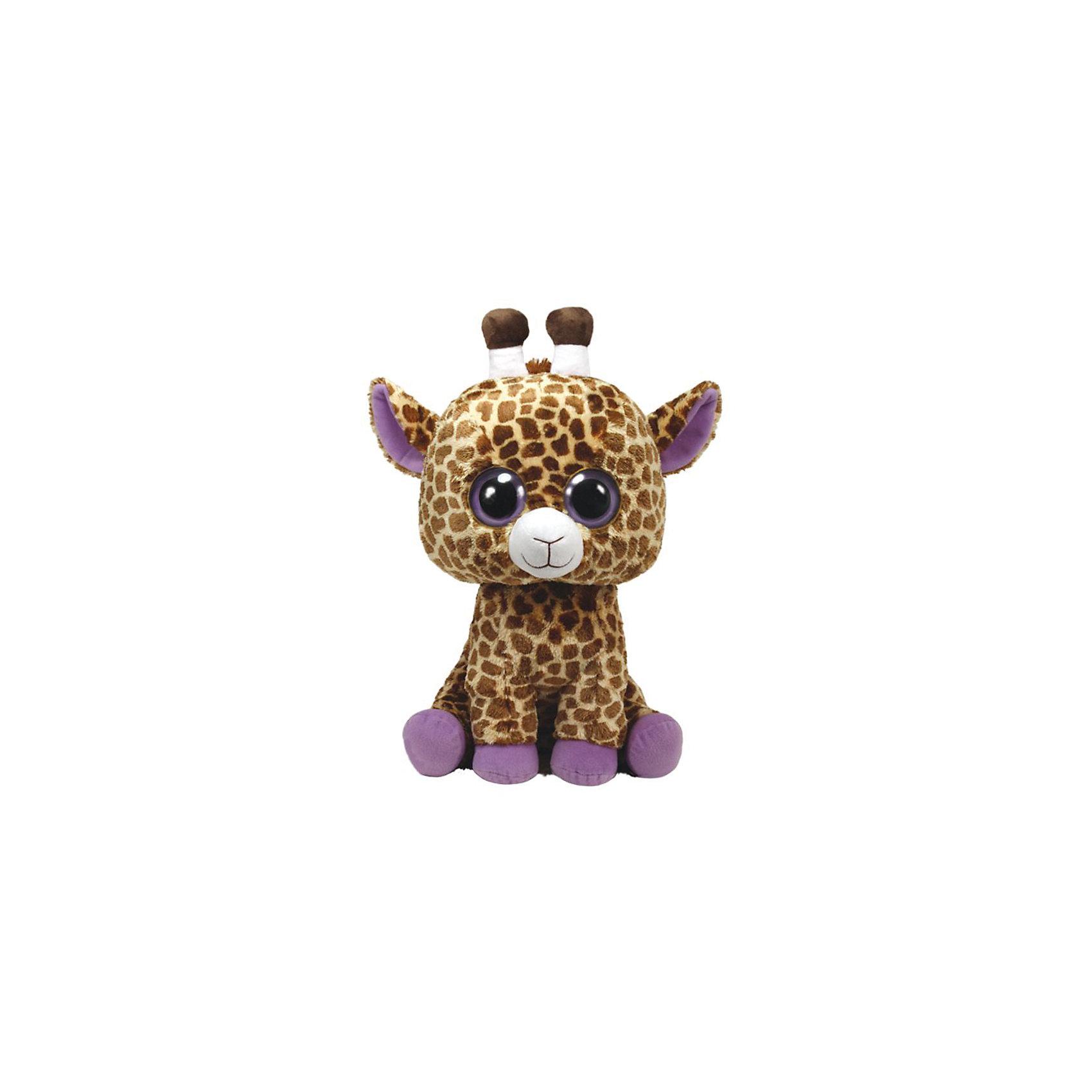 Жираф Safari 40,64 смМягкие игрушки животные<br>Жираф Safari 40,64 см – игрушка от бренда TY Inc (ТАЙ Инкорпорейтед), знаменитого своими мягкими игрушками, в качестве наполнителя для которых используются гранулы. Жираф выполнен из качественного и гипоаллергенного пятнистого текстиля с коротким ворсом , копытца и внутренняя часть ушек – из сиреневого текстиля. Используемые материалы делают игрушку прочной, устойчивой к изменению цвета и формы, ее разрешается стирать.<br>Жираф Safari 40,64 см TY Inc непременно станет любимой игрушкой для вашего ребенка, а уникальный наполнитель будет способствовать  не  только развитию мелкой моторики пальцев, но и оказывать релаксирующее воздействие.<br><br>Дополнительная информация:<br><br>- Вид игр: сюжетно-ролевые игры, интерьерные игрушки, для коллекционирования<br>- Предназначение: для дома<br>- Материал: искусственный мех, пластик, наполнитель ? гранулы<br>- Высота: 40, 64 см<br>- Особенности ухода: разрешается стирка<br>Подробнее:<br><br>• Для детей в возрасте: от 3 лет <br>• Страна производитель: Китай<br>• Торговый бренд: TY Inc <br><br>Жирафа Safari 40,64 см можно купить в нашем интернет-магазине.<br><br>Ширина мм: 399<br>Глубина мм: 240<br>Высота мм: 244<br>Вес г: 752<br>Возраст от месяцев: 12<br>Возраст до месяцев: 60<br>Пол: Унисекс<br>Возраст: Детский<br>SKU: 3147341