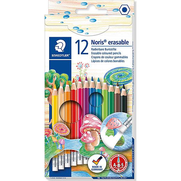 Цветные карандаши NorisClub, 12 цв.Письменные принадлежности<br>Набор цветных карандашей Noris Club классической шестигранной формы с ластиком.  Небольшие ошибки могут быть мгновенно исправлены с помощью ластика без ПВХ. Картонная коробка. Содержит 12 цветов. A-B-C - белое защитное покрытие для укрепления грифеля и для защиты от поломки. Очень мягкий и яркий грифель. При призводстве используется древесина сертифицированных и  специально подготовленных лесов.<br>Ширина мм: 196; Глубина мм: 96; Высота мм: 10; Вес г: 81; Возраст от месяцев: 72; Возраст до месяцев: 1188; Пол: Унисекс; Возраст: Детский; SKU: 3150955;