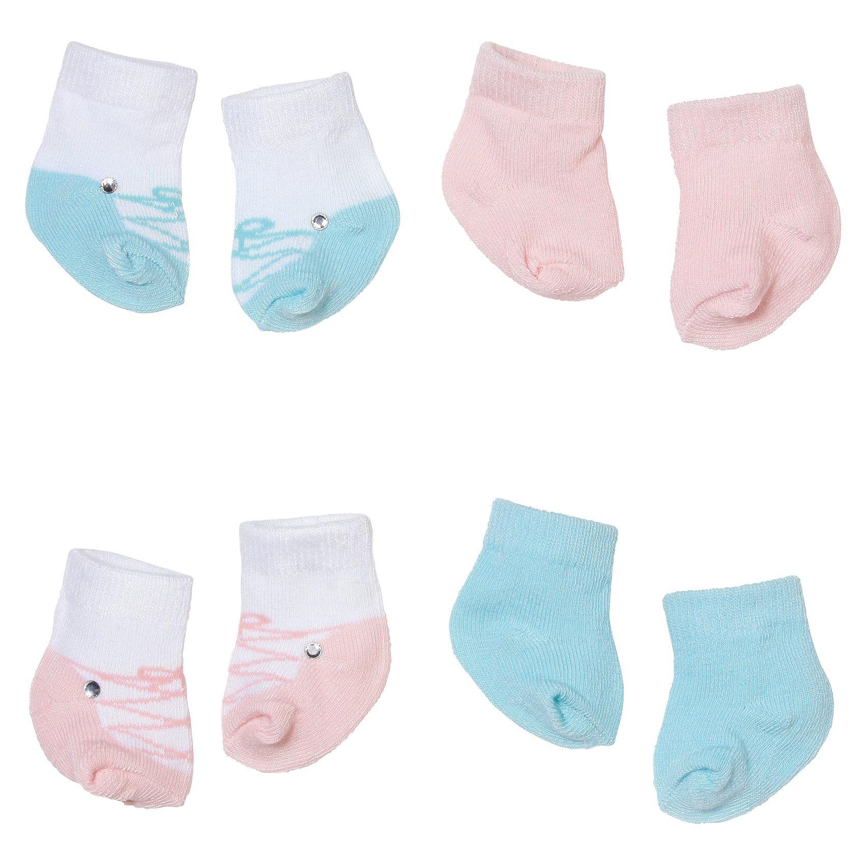 Носочки (2 пары), Baby Annabell, в ассортиментеНосочки для куклы Baby Annabell 46 см. В каждом наборе по две пары носков.<br><br>Ширина мм: 181<br>Глубина мм: 131<br>Высота мм: 16<br>Вес г: 28<br>Возраст от месяцев: 36<br>Возраст до месяцев: 60<br>Пол: Женский<br>Возраст: Детский<br>SKU: 3151243