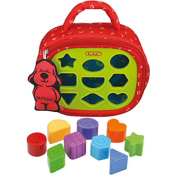 Сортер Патрик, Ks KidsРазвивающие игрушки<br>Сортер Патрик - это компактный, удобный и мягкий рюкзачок с сортером. В сортере есть 9 разных отверстий, в которые можно вставлять соответствующие им кубики. Кубики можно хранить просто в самом Патрике. Вместе с сортером Патриком малыш научиться идентифицировать формы, он так же сможет и немного поиграть. Например, в верхних лапках есть шарики, которые можно ощупать. В одну из лап встроено зеркало. А сам рюкзак-Патрик – это большая и красивая мягкая игрушка. Играя с сортером Патриком, малыш активнее будет развивать свою логику и фантазию, а также моторику рук и пальцев. Яркий и красочный дизайн поможет ему расширить цветовое восприятие. Игрушка-сортер K's kids Патрик предназначен для игры ребенка, а также игрушка представление о геометрических формах и цветовой палитре. <br><br>Дополнительная информация:<br><br>- количество фигурок: 9 шт.<br>- размер фигурок: 33х35х13 см.<br>- материал: текстиль, пластмасса<br>- Размеры (см): 32 х 23 х 9.<br>- длина упаковки: 12 см.<br>- ширина упаковки: 38 см.<br>- высота упаковки: 24 см.<br>- вес: 0,7 кг.<br><br>Сортер Патрик от компании K`s Kids можно купить в нашем интернет-магазине.<br>Ширина мм: 230; Глубина мм: 85; Высота мм: 270; Вес г: 710; Возраст от месяцев: 12; Возраст до месяцев: 36; Пол: Унисекс; Возраст: Детский; SKU: 3155521;