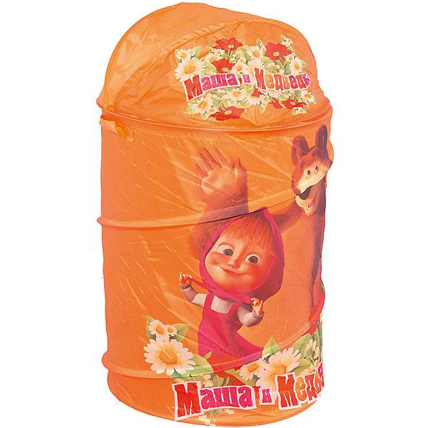 Корзина для игрушек, Маша и медведьКорзины для игрушек<br>Яркая и красивая корзина для игрушек с изображением любимых героев - Маши и  Медведя.<br>Такая корзина является не только удобным приспособлением для хранения игрушек, но также и своеобразным украшением детской.<br><br>Дополнительная информация:<br><br>- Корзина выполнена из легкого и плотного материала;<br>- Легко стирается и чистится;<br>- Легко собирается;<br>- Каркас - пружинная спираль, которая хорошо держит форму;<br>- В сложенном состоянии корзина занимает мало места.<br>- Размеры: 45 х 50 см.<br><br>Igraem vmeste Маша и медведь-Корзину для игрушек можно купить в нашем магазине.<br><br>Ширина мм: 400<br>Глубина мм: 400<br>Высота мм: 30<br>Вес г: 580<br>Возраст от месяцев: 0<br>Возраст до месяцев: 168<br>Пол: Унисекс<br>Возраст: Детский<br>SKU: 3156361