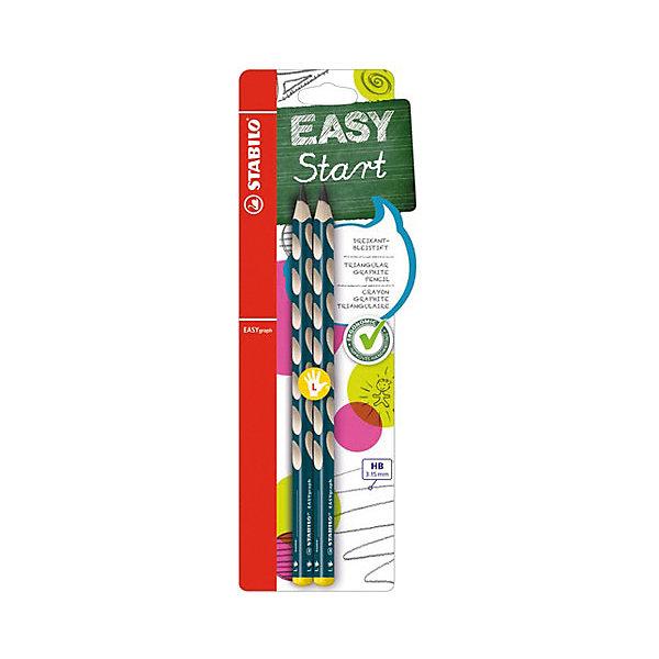 STABILO Easy graph Карандаш для левшей, ч/г 2 штЧернографитные<br>Чернографитный карандаш для левшей EASY GRAPH, 2 шт. от марки Stabilo<br><br>Этот карандаш из серии EASY GRAPH разработан специально для детей, осваивающих рисование и процесс письма. Он создан с учетом особенностей строения и развития руки ребенка. На деревянном карандаше сделаны специальные углубления, которые подсказывают детям правильное расположение пальцев на пишущем инструменте. <br>Даже после заточки карандашей они продолжают полноценно исполнять эту функцию. Форма этих предметов (трехгранник) позволяет карандашам удобно ложиться в детской руке и не вызывать усталости мышц. Предназначены для левшей, имеют повышенную стойкость к поломкам. В наборе - 2 карандаша.<br><br>Особенности данной модели:<br><br>твердость: НВ;<br>длина: 17,5 см;<br>цвет: чёрный;<br>материал: дерево;<br>комплектация: 2 шт.<br><br>Чернографитный карандаш для левшей EASY GRAPH, 2 шт. от марки Stabilo можно купить в нашем магазине.<br>Ширина мм: 80; Глубина мм: 10; Высота мм: 240; Вес г: 10; Возраст от месяцев: 60; Возраст до месяцев: 216; Пол: Унисекс; Возраст: Детский; SKU: 3157336;