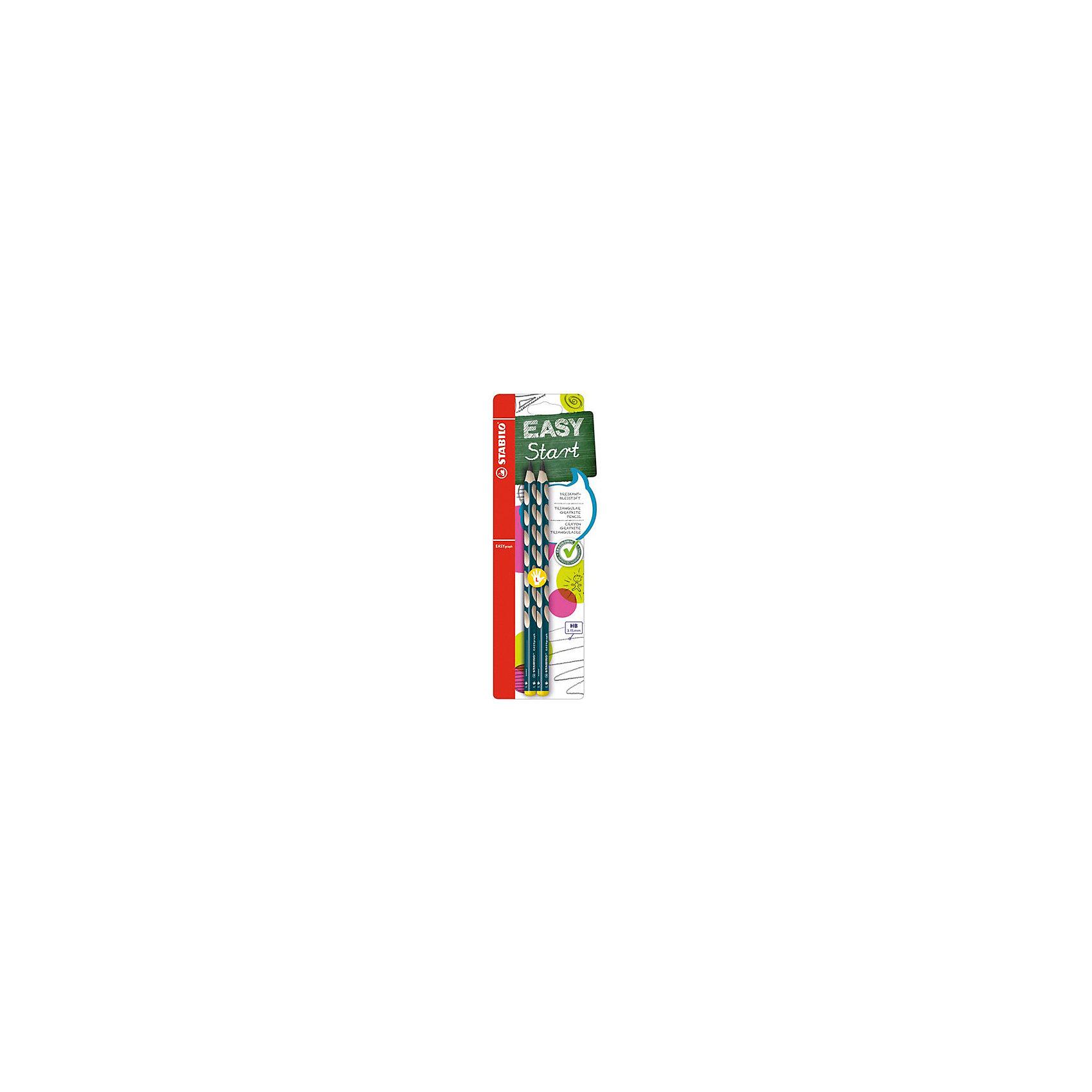 STABILO Easy graph Карандаш для левшей, ч/г 2 штЧернографитный карандаш для левшей EASY GRAPH, 2 шт. от марки Stabilo<br><br>Этот карандаш из серии EASY GRAPH разработан специально для детей, осваивающих рисование и процесс письма. Он создан с учетом особенностей строения и развития руки ребенка. На деревянном карандаше сделаны специальные углубления, которые подсказывают детям правильное расположение пальцев на пишущем инструменте. <br>Даже после заточки карандашей они продолжают полноценно исполнять эту функцию. Форма этих предметов (трехгранник) позволяет карандашам удобно ложиться в детской руке и не вызывать усталости мышц. Предназначены для левшей, имеют повышенную стойкость к поломкам. В наборе - 2 карандаша.<br><br>Особенности данной модели:<br><br>твердость: НВ;<br>длина: 17,5 см;<br>цвет: чёрный;<br>материал: дерево;<br>комплектация: 2 шт.<br><br>Чернографитный карандаш для левшей EASY GRAPH, 2 шт. от марки Stabilo можно купить в нашем магазине.<br><br>Ширина мм: 80<br>Глубина мм: 10<br>Высота мм: 240<br>Вес г: 10<br>Возраст от месяцев: 60<br>Возраст до месяцев: 216<br>Пол: Унисекс<br>Возраст: Детский<br>SKU: 3157336