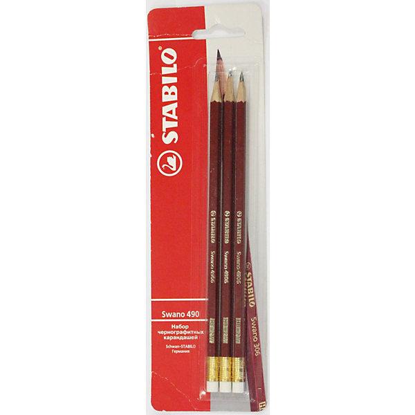 STABILO Swano Набор карандашей, неоновый корпус, 3 шт.