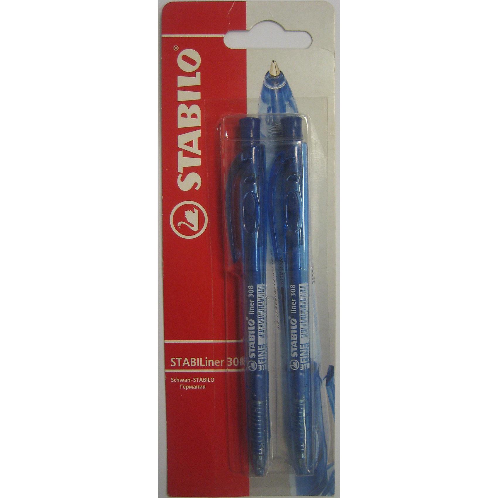 STABILO Liner Ручка синяя, 2штПисьменные принадлежности<br>STABILO LINER автоматическая шариковая ручка с убирающимся пишущим узлом и практичным клипом, особенно удобна для ношения в кармане. Высококачественный пишущий узел со специальным обжатием шарика обеспечивает чистое и мягкое письмо, защищает от утечки чернил и обеспечивает тонкую аккуратную линию. Прозрачный корпус позволяет визуально контролировать расход чернил. Благодаря эргономичной форме грип-зоны рука не устает даже при длительном письме. Сменный стержень.<br><br>Ширина мм: 295<br>Глубина мм: 245<br>Высота мм: 160<br>Вес г: 30<br>Возраст от месяцев: 72<br>Возраст до месяцев: 216<br>Пол: Унисекс<br>Возраст: Детский<br>SKU: 3157358