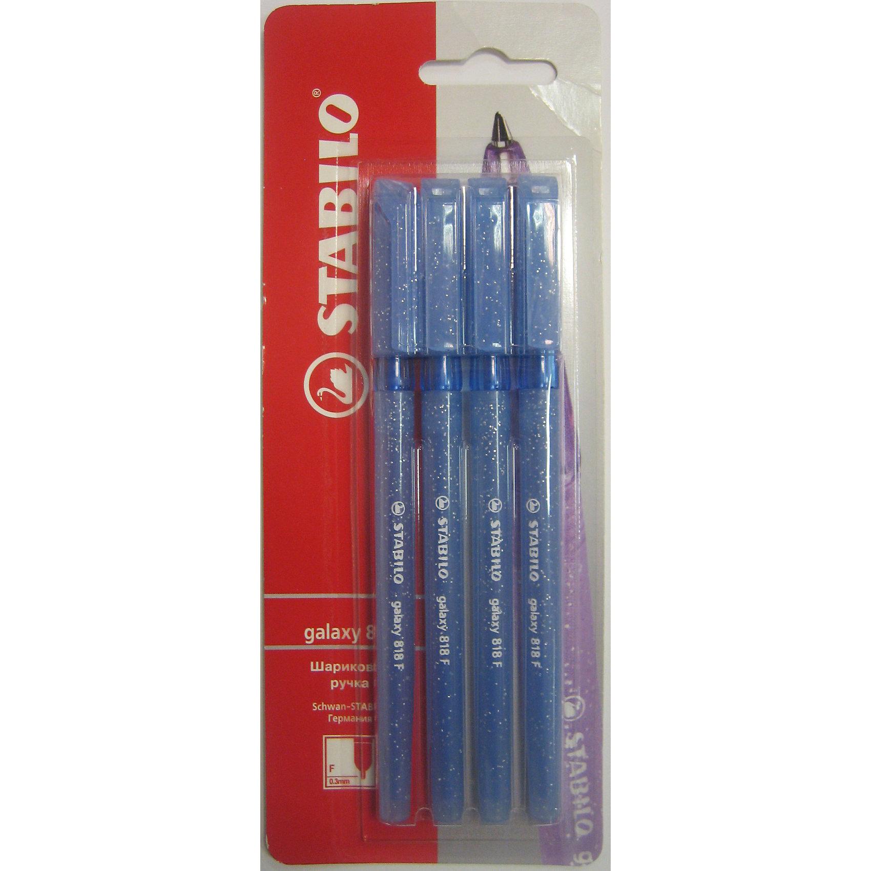 STABILO Liner Ручка 818/41, синяя, 4штПисьменные принадлежности<br>Stabilo Liner ручка шариковая синяя в блистере 4 шт. Удобная и практичная ручка, отличающаяся надежностью и длительностью письма. Специальная технология фиксирования пишущего шарика защищает от утечки чернил, обеспечивает тонкую аккуратную линию и мягкое скольжение. Увеличенный запас чернил значительно продлевает линию письма.  Эргономичная зона обхвата снижает усталость при письме.<br><br>Ширина мм: 295<br>Глубина мм: 245<br>Высота мм: 160<br>Вес г: 40<br>Возраст от месяцев: 72<br>Возраст до месяцев: 216<br>Пол: Унисекс<br>Возраст: Детский<br>SKU: 3157360