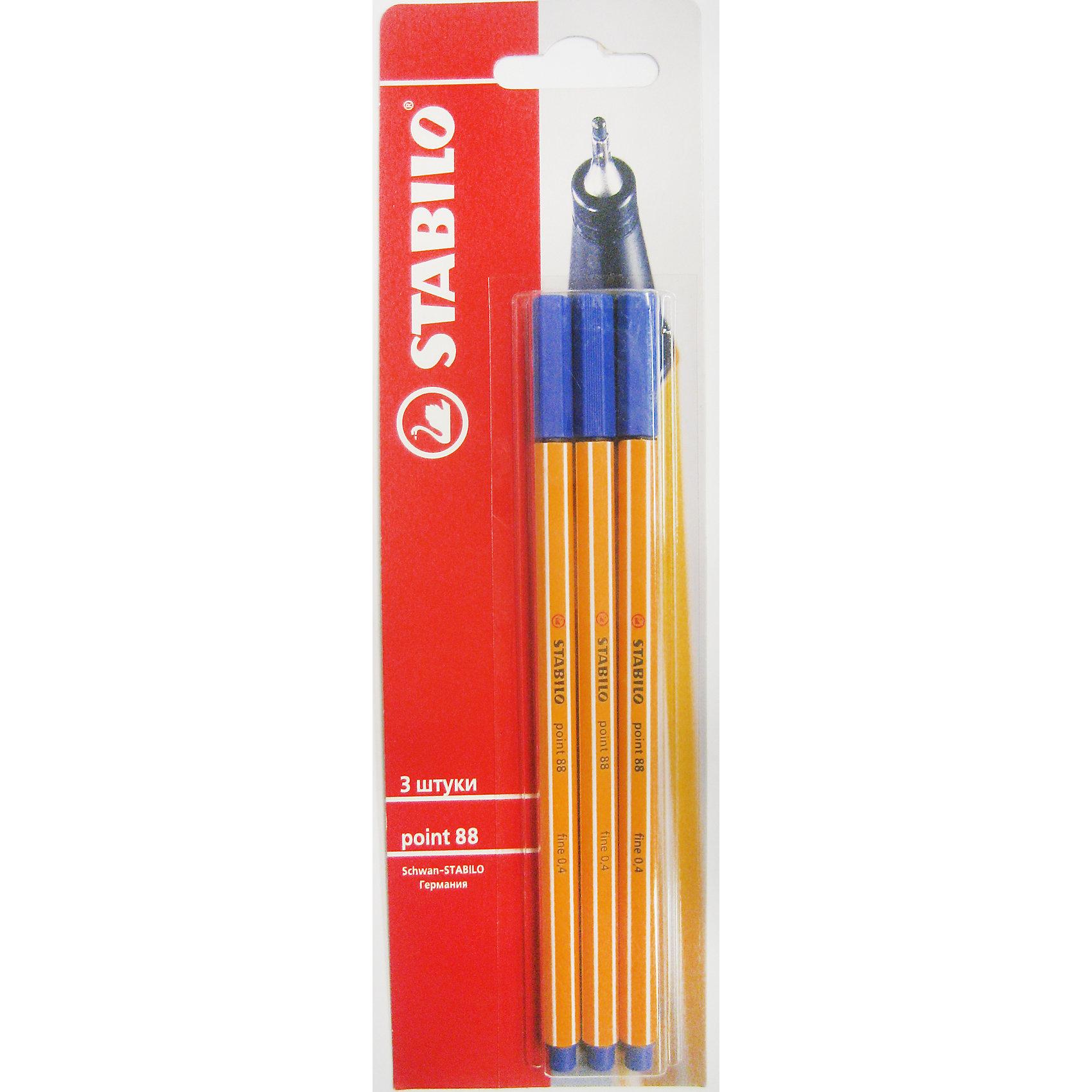 STABILO Tropicana Ручка синяя, 3шт.Письменные принадлежности<br>Синяя ручка, 3 шт. от марки Stabilo<br><br>Удобные капиллярные немецкие ручки от компании Stabilo в классическом корпусе. Пишущий инструмент отличного качества! Не требуется расписывание. <br>Отлично ложится в руке, пишет мягко. Дает тонкую линию. Чернила очень быстро сохнут и легко отстирываются с одежды. В наборе - 3 одинаковых ручки с синими чернилами. Упаковка - блистер.<br><br>Особенности данной модели:<br><br>цвет чернил: синий;<br>цвет корпуса: оранжевый.<br><br>Синяя ручка, 3 шт. от марки Stabilo можно купить в нашем магазине.<br><br>Ширина мм: 295<br>Глубина мм: 245<br>Высота мм: 160<br>Вес г: 30<br>Возраст от месяцев: 72<br>Возраст до месяцев: 216<br>Пол: Унисекс<br>Возраст: Детский<br>SKU: 3157363