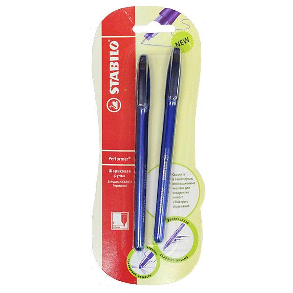 STABILO  Ручка шариковая performer, синяя, 2 шт.Письменные принадлежности<br>Stabilo Marathon набор автоматических шариковых ручек 3 шт. в блистере. Ручка с увеличенным запасом чернил, которая пишет вдвое дольше других шариковых ручек - 5,5км.<br>Ширина мм: 295; Глубина мм: 245; Высота мм: 160; Вес г: 30; Возраст от месяцев: 72; Возраст до месяцев: 216; Пол: Унисекс; Возраст: Детский; SKU: 3157367;