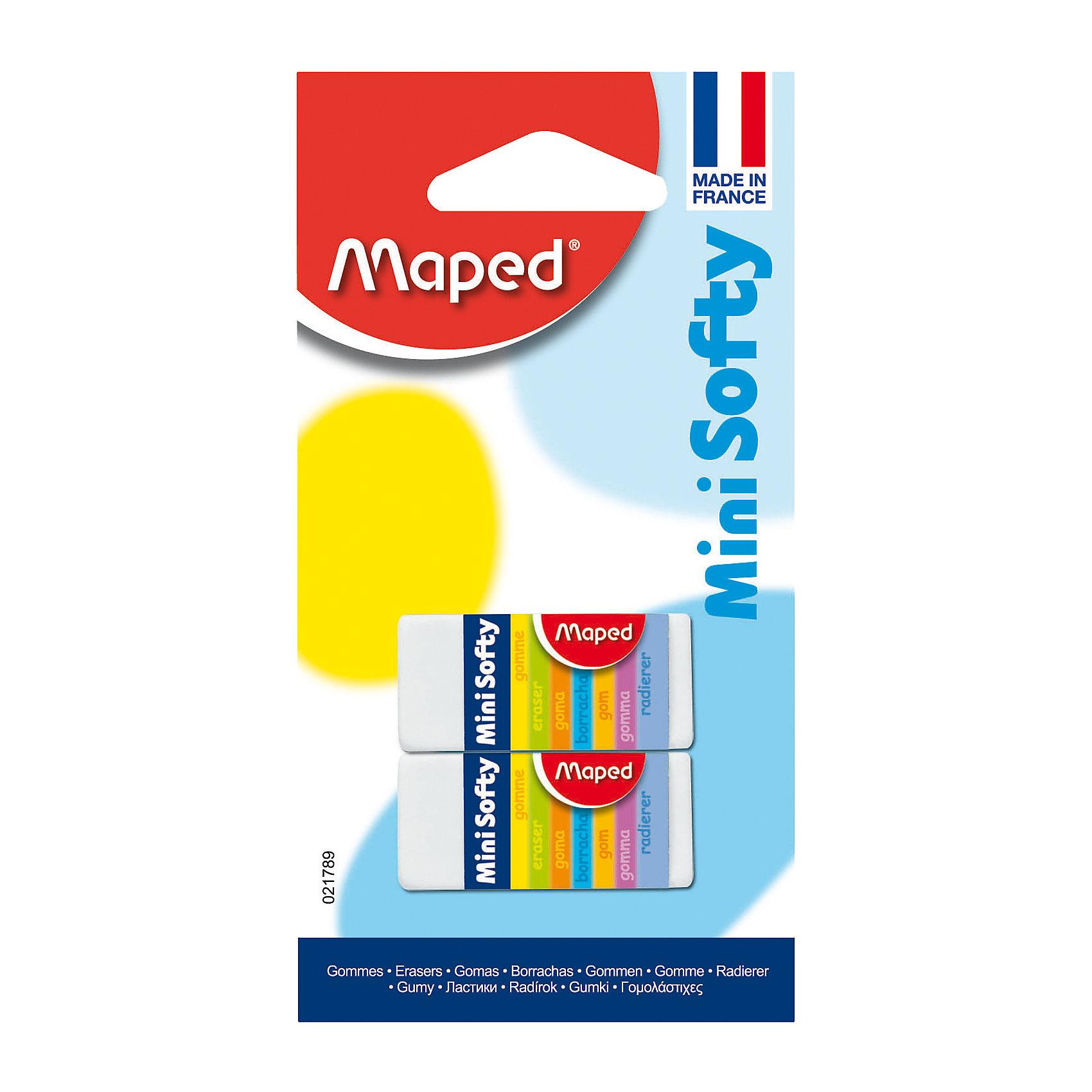 Maped Ластик softy mini в блистереЧертежные принадлежности<br>Высококачественные ластики Maped понравятся даже самому требовательному покупателю! Ни одна из стирательных резинок Maped не содержит фталатов и ПВХ, изделия полностью соответствуют существующим требованиям безопасности. Ластик имеет мягкую структуру, что обеспечивает комфортное стирание.<br> Размер: мини отлично подходит для школьного пенала.<br><br>Ширина мм: 14<br>Глубина мм: 65<br>Высота мм: 125<br>Вес г: 26<br>Возраст от месяцев: 60<br>Возраст до месяцев: 216<br>Пол: Унисекс<br>Возраст: Детский<br>SKU: 3157369