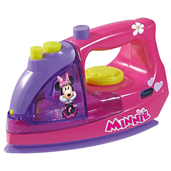 Утюг с водой Minnie Mouse, 18 см, SimbaMinnie Mouse Игрушки<br>Утюг с водой Minnie Mouse, 18 см, Simba (Симба).<br><br>Характеристика:<br><br>• Материал: пластик. <br>• Размер утюга: 18 см. <br>• Вес: 0,4 кг. <br>• Емкость для воды (можно наливать воду). <br>• Подвижное колесико регулятора температуры. <br>• Издает звук шипения и нагрева. <br>• Элемент питания: 2 АА батарейки (не входят в комплект). <br>• Яркий привлекательный дизайн. <br><br>Яркий утюг с изображением очаровательной Минни Маус обязательно понравится любой девочке. Утюг отлично детализирован и выглядит как настоящий: есть подвижный регулятор температуры, емкость для воды, при нажатии на кнопку раздается шипение (как при включении пара). Игрушка выполнена из высококачественного гипоаллергенного пластика, в производстве которого использованы только безопасные нетоксичные красители. Отличный вариант для вашею юной хозяйки!<br><br>Утюг с водой Minnie Mouse, 18 см, Simba (Симба), можно купить в нашем интернет-магазине.<br><br>Ширина мм: 220<br>Глубина мм: 105<br>Высота мм: 128<br>Вес г: 800<br>Возраст от месяцев: 36<br>Возраст до месяцев: 72<br>Пол: Женский<br>Возраст: Детский<br>SKU: 3159680
