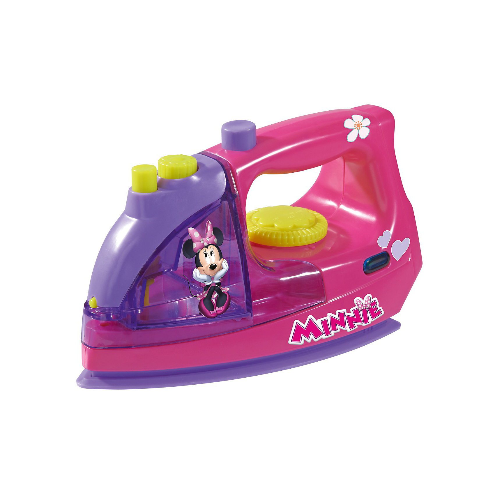 Утюг с водой Minnie Mouse, 18 см, SimbaМинни Маус<br>Утюг с водой Minnie Mouse, 18 см, Simba (Симба).<br><br>Характеристика:<br><br>• Материал: пластик. <br>• Размер утюга: 18 см. <br>• Вес: 0,4 кг. <br>• Емкость для воды (можно наливать воду). <br>• Подвижное колесико регулятора температуры. <br>• Издает звук шипения и нагрева. <br>• Элемент питания: 2 АА батарейки (не входят в комплект). <br>• Яркий привлекательный дизайн. <br><br>Яркий утюг с изображением очаровательной Минни Маус обязательно понравится любой девочке. Утюг отлично детализирован и выглядит как настоящий: есть подвижный регулятор температуры, емкость для воды, при нажатии на кнопку раздается шипение (как при включении пара). Игрушка выполнена из высококачественного гипоаллергенного пластика, в производстве которого использованы только безопасные нетоксичные красители. Отличный вариант для вашею юной хозяйки!<br><br>Утюг с водой Minnie Mouse, 18 см, Simba (Симба), можно купить в нашем интернет-магазине.<br><br>Ширина мм: 220<br>Глубина мм: 105<br>Высота мм: 128<br>Вес г: 800<br>Возраст от месяцев: 36<br>Возраст до месяцев: 72<br>Пол: Женский<br>Возраст: Детский<br>SKU: 3159680