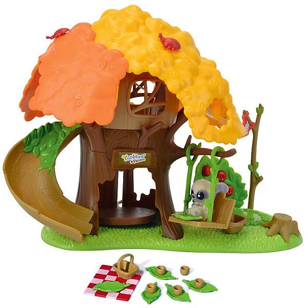 Домик-дерево, Юху и его друзьяДомики для кукол<br>Добро пожаловать в невероятный мир YooHoo &amp; Friends (Юху и его Друзья), созданный компанией Aurora (Аврора).  Домик-дерево YooHoo &amp; Friends (Юху и его Друзья) - лучший подарок фанатам мультика: YooHoo &amp; Friends (Юху и его Друзья), где Юху со своими друзьями отправились в путешествие по всему свету, чтобы найти все семена дерева жизни и вернуть их обратно  до восхода новой звезды Авроры.  Маленькие друзья столкнутся в своем путешествии со многими трудностями и препятствиями. Чтобы выполнить свою миссию Юху и его друзья должны научиться дружить и помогать друг другу в сложных ситуациях. Тогда с любой задачей, даже с самой сложной,  можно справиться! <br>Домик невероятно увлекательный и содержит большое количество элементов и деталей, которые будут развивать воображение малыша и служить основой многим сюжетам! В просторном домике хватит места для всех лесных друзей Юху! Самое забавное в домике - это горка-спуск с второго этажа. Если зверюшкам наскучит кататься с горки, они могут по очереди качаться на качелях, которые закреплены на ветке домика-дерева с противоположной стороны от горки. А после дня полного весельем зверюшкам не помешает устроить пикник на природе, для этого в комплекте есть необходимое!<br><br>Дополнительная информация:<br><br>- изготовлена из материала высокого качества;<br>- зверек Юху - герои любимого мультика;<br>- размер упаковки: 32х18х27 см;<br>- вес: 0,885 кг;<br>- в комплекте 1 фигурка и домик с горкой, аксессуары для пикника зверюшек (корзина, скатерть в клеточку, чашечки, тарелочки).<br><br>Увлеките своего ребенка в забавный мир YooHoo &amp; Friends (Юху и его Друзья).<br><br>Домик-дерево с фигуркой YooHoo &amp; Friends (Юху и его Друзья), Вы можете купить в нашем интернет-магазине.<br>Ширина мм: 327; Глубина мм: 273; Высота мм: 182; Вес г: 883; Возраст от месяцев: 36; Возраст до месяцев: 72; Пол: Унисекс; Возраст: Детский; SKU: 3159707;