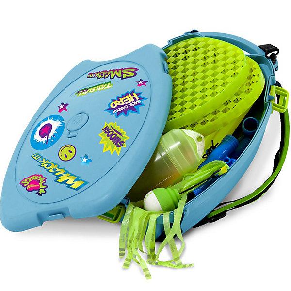 Набор для игры в бадминтон, MookieИгровые наборы<br>Сет из 3 игр в одном рюкзаке:  Веселый теннис, Фризби, Мяч ракета.  В комплекте, база в виде рюкзака, сборно-разборный  Y- образный штатив, сетка, две ракетки одевающиеся на ладонь, воланчик (мяч с хвостом),  фрисби с хвостом,  летающий мяч-ракета с хвостом. Набор ярких наклеек для индивидуального дизайна!  Пластиковый рюкзак -основание для штатива, что позволяет играть на любой поверхности. Для повышения устойчивости рюкзак можно наполнить водой или песком.<br>Ширина мм: 400; Глубина мм: 270; Высота мм: 120; Вес г: 2300; Возраст от месяцев: 36; Возраст до месяцев: 1188; Пол: Унисекс; Возраст: Детский; SKU: 3164134;