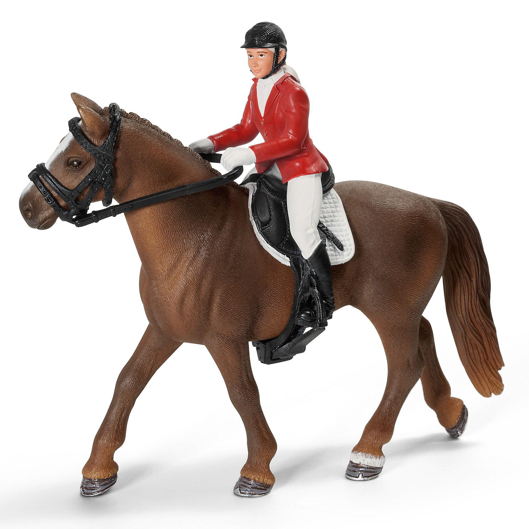 Набор для конкура с наездницей (без лошади), SchleichНабор для конкура с наездницей (без лошади), Schleich (Шляйх). Юная смелая наездница в красном пиджаке, белых перчатках и брюках обязательно выиграет скачки. Ну а если она устанет, можно уютно расположиться на мягком клетчатом седле в тени деревьев и немного передохнуть.<br><br>Дополнительная информация:<br><br>-все элементы набора выполнены с реалистичной точностью, раскрашены вручную нетоксичными красками<br>-размеры (ДхШхВ): 5,5х9х11,5<br>-в наборе: наездница с аксессуарами.<br>-материал: высококачественный пластик<br><br>Внимание! Лошадь в комплект не входит, но к наезднице подходит любая лошадь от Schleich (Шляйх).<br><br>Яркая элегантная наездница сможет стать прекрасным украшением вашей коллекции игрушек Schleich (Шляйх). <br><br>Набор для конкура с наездницей (без лошади), Schleich (Шляйх) можно купить в нашем магазине<br><br>Ширина мм: 120<br>Глубина мм: 91<br>Высота мм: 58<br>Вес г: 52<br>Возраст от месяцев: 36<br>Возраст до месяцев: 96<br>Пол: Женский<br>Возраст: Детский<br>SKU: 3164153
