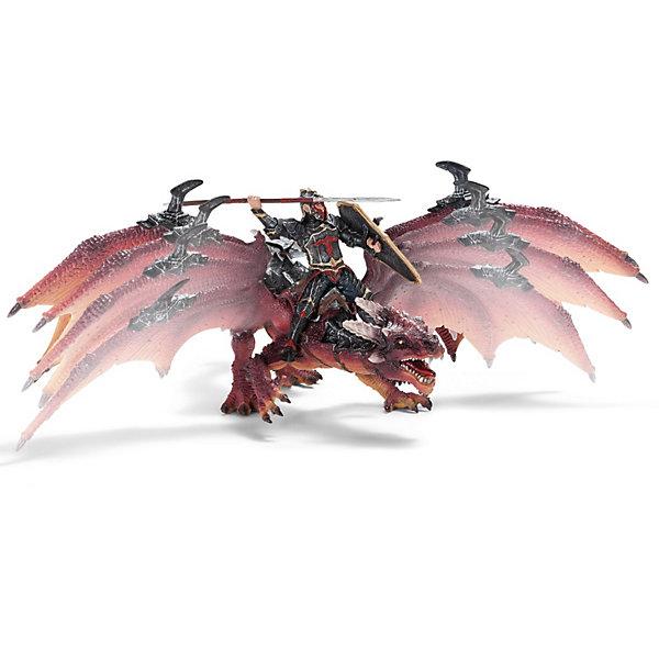Всадник на драконе Орден Дракона, SchleichФигурки мифических существ<br>Всадник на драконе Орден Дракона от  Schleich (Шляйх) – самый главный воин Ордена Дракона, он может летать и за пределы своей страны, знакомясь с иноземными героями. <br> <br>Дополнительная информация:<br><br>-фигурка Всадника на драконе, раскрашена вручную, сделана из безопасного материала – каучукового пластика<br>-размеры (ДхШхВ): 16,5х29х17,2 см<br>- крылья дракона подвижные<br>- всадник надежно крепится к дракону с помощью магнитов, встроенных в фигурку. <br><br>Игрушку Всадник на драконе Орден Дракона, Schleich (Шляйх) можно купить в нашем интернет - магазине.<br><br>Ширина мм: 295<br>Глубина мм: 172<br>Высота мм: 177<br>Вес г: 760<br>Возраст от месяцев: 36<br>Возраст до месяцев: 96<br>Пол: Мужской<br>Возраст: Детский<br>SKU: 3164156