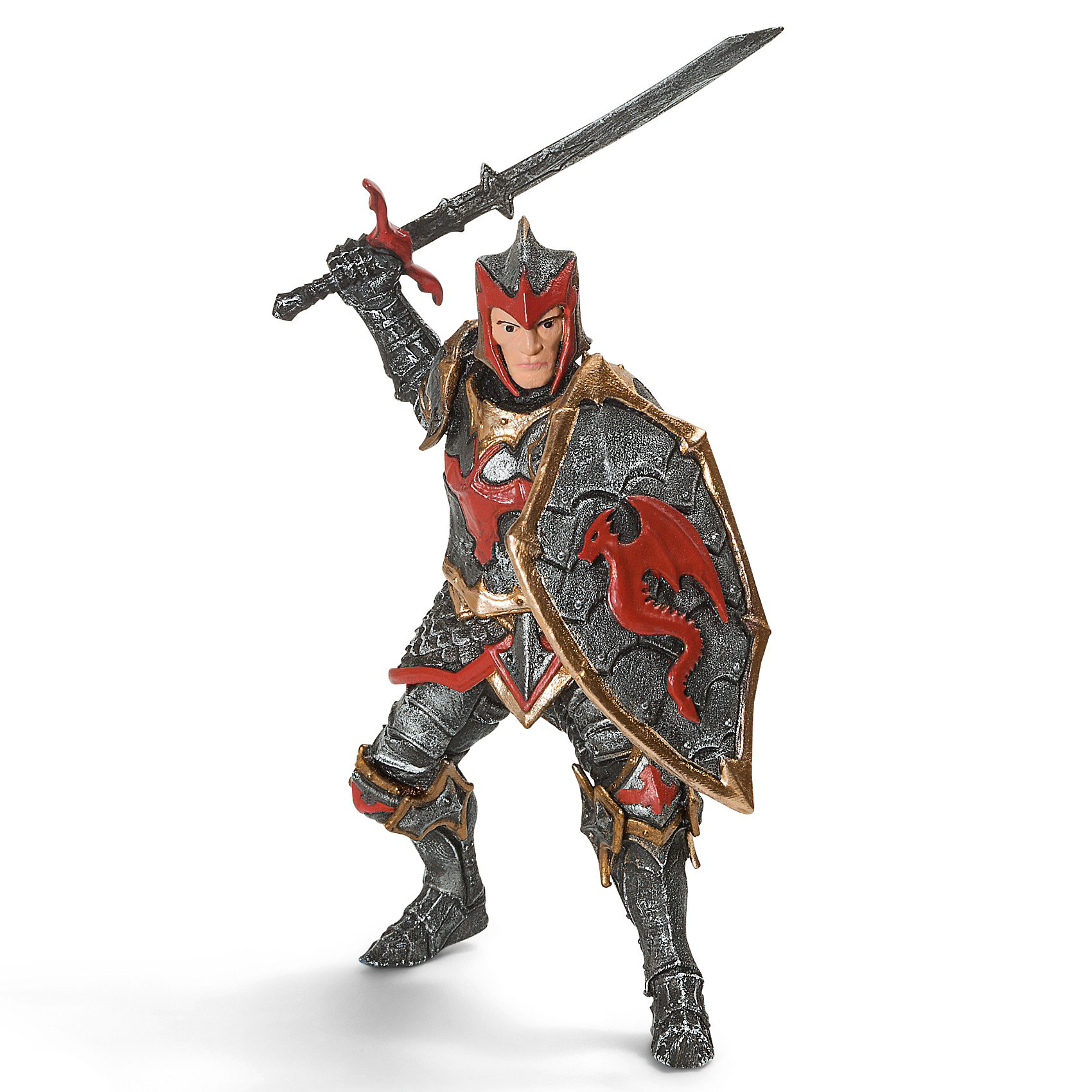 Рыцарь с мечом Орден Дракона, SchleichСолдатики и рыцари<br>Рыцарь с мечом Орден Дракона от Schleich (Шляйх) – величайший фехтовальщик Ордена Дракона. Его оружие – это семейная реликвия, которая передается на протяжении веков от отца к сыну.<br><br>Дополнительная информация:<br><br>-фигурка Рыцарь Дракона с мечом раскрашенная вручную, сделана из безопасного материала – каучукового пластика.<br>-размеры (ДхШхВ): 16,3х3х5,8 см<br><br>Соберите с ребенком свою армию рыцарей и сразитесь с врагом!<br><br>Рыцаря с мечом Орден Дракона, Schleich (Шляйх) можно купить в нашем интернет-магазине.<br><br>Ширина мм: 169<br>Глубина мм: 96<br>Высота мм: 68<br>Вес г: 70<br>Возраст от месяцев: 36<br>Возраст до месяцев: 96<br>Пол: Мужской<br>Возраст: Детский<br>SKU: 3164159