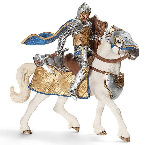 Рыцарь на коне Орден Грифона, SchleichИдеи подарков<br>Рыцарь на коне Орден Грифона от  Schleich (Шляйх) вооружен молотом в форме клюква хищной птицы. Воин сам изготовил для себя это орудие, которому нет равных уже потому, что его враги никогда не видели такого оружия. Никто не может сравниться с этим рыцарем по силе удара.<br><br>Дополнительная информация:<br><br>-фигурки Рыцарь Грифона на коне, раскрашенные вручную, сделаны из безопасного материала – каучукового пластика.<br>-размеры (ДхШхВ): 8,5х15х18 см<br>-всадник надежно крепится к лошади с помощью магнитов, встроенных в фигурку. <br><br>Игрушку Рыцарь на коне Орден Грифона, Schleich (Шляйх) можно купить в нашем интернет - магазине.<br><br>Ширина мм: 169<br>Глубина мм: 162<br>Высота мм: 86<br>Вес г: 229<br>Возраст от месяцев: 36<br>Возраст до месяцев: 96<br>Пол: Мужской<br>Возраст: Детский<br>SKU: 3164164
