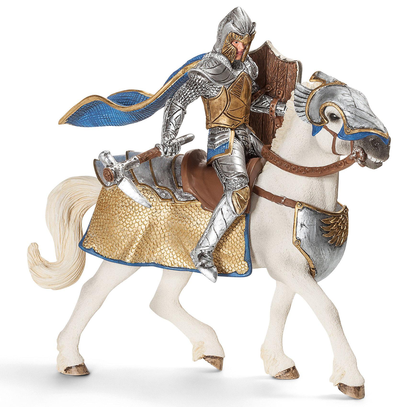 Рыцарь на коне Орден Грифона, SchleichСолдатики и рыцари<br>Рыцарь на коне Орден Грифона от  Schleich (Шляйх) вооружен молотом в форме клюква хищной птицы. Воин сам изготовил для себя это орудие, которому нет равных уже потому, что его враги никогда не видели такого оружия. Никто не может сравниться с этим рыцарем по силе удара.<br><br>Дополнительная информация:<br><br>-фигурки Рыцарь Грифона на коне, раскрашенные вручную, сделаны из безопасного материала – каучукового пластика.<br>-размеры (ДхШхВ): 8,5х15х18 см<br>-всадник надежно крепится к лошади с помощью магнитов, встроенных в фигурку. <br><br>Игрушку Рыцарь на коне Орден Грифона, Schleich (Шляйх) можно купить в нашем интернет - магазине.<br><br>Ширина мм: 169<br>Глубина мм: 162<br>Высота мм: 86<br>Вес г: 229<br>Возраст от месяцев: 36<br>Возраст до месяцев: 96<br>Пол: Мужской<br>Возраст: Детский<br>SKU: 3164164