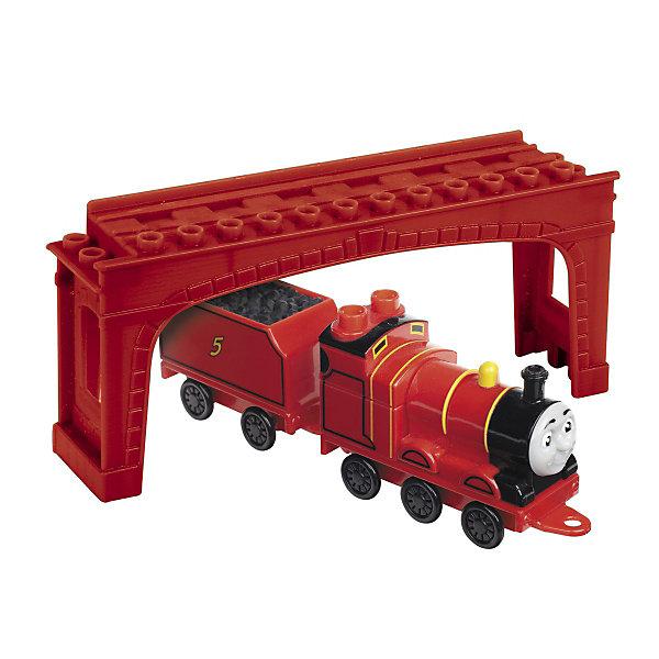 Конструктор Паровозик Джеймс, MEGA BLOKS, 8 дет.Игрушки<br>Конструктор Паровозик Джеймс от MEGA BLOKS (Мега Блокс) - это отличный подарок для Вашего ребёнка, который увлекается железной дорогой.<br><br>Забавный паровозик Джеймс работает на железной дороге и перевозит разные грузы. Джеймс старается ответственно выполнять свою работу и никого не подводить! Груз будет доставлен вовремя, на Джеймса можно положиться и дать ему важное задание.<br><br>Конструкторы данной серии совместимы между собой. Собрав несколько паровозиков, можно придумать увлекательный сюжет для игры!<br><br>Конструктор Паровозик Джеймс от MEGA BLOKS (Мега Блокс) можно купить в нашем интернет-магазине.<br><br><br>Дополнительная информация:<br>Количество деталей: 8 шт.<br>Размер коробки: ДхШхВ: 22.3 х 10 х 5.1 см<br><br>Ширина мм: 223<br>Глубина мм: 100<br>Высота мм: 51<br>Вес г: 226<br>Возраст от месяцев: 36<br>Возраст до месяцев: 72<br>Пол: Унисекс<br>Возраст: Детский<br>SKU: 3164306