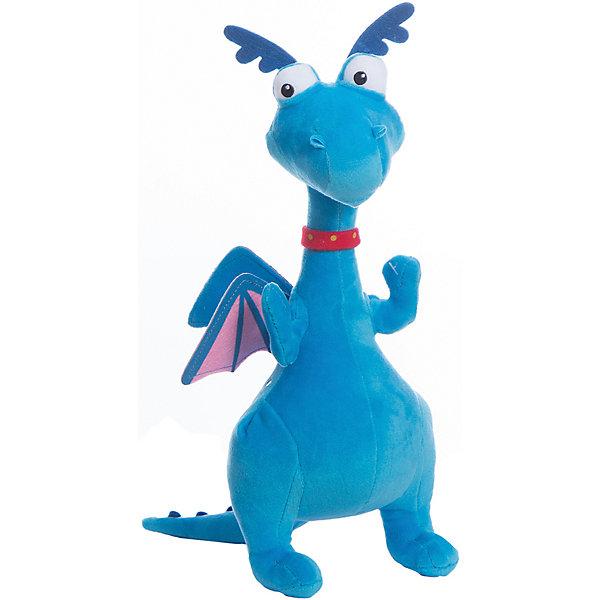Мягкая игрушка Стаффи, 25 см, NicotoyМягкие игрушки из мультфильмов<br>Характеристики:<br><br>• по мотивам мультфильма Доктор Плюшева;<br>• высота игрушки: 25 см;<br>• материал: полиэстер;<br>• размер упаковки: 30х7х12 см;<br>• вес: 200 грамм;<br>• страна бренда: Германия.<br><br>Стаффи- забавный дракон, обладающий огромной тягой к интересным приключениям. С мягкой игрушкой ребенок сможет помочь Стаффи, придумав и воссоздав в игре множество захватывающих историй.<br><br>Игрушка изготовлена из высококачественного полиэстера, безопасного для детей. Она приятна на ощупь и не вызывает аллергических реакций. <br><br>Дракон очень похож на свой прототип из мультфильма Доктор Плюшева. Его большие глаза, маленькие крылышки и забавные рожки никого не оставят равнодушным.<br><br>Мягкую игрушку Стаффи, 25 см, Nicotoy (Никотой) можно купить в нашем интернет-магазине.<br>Ширина мм: 276; Глубина мм: 101; Высота мм: 127; Вес г: 120; Возраст от месяцев: 12; Возраст до месяцев: 2147483647; Пол: Женский; Возраст: Детский; SKU: 3168394;