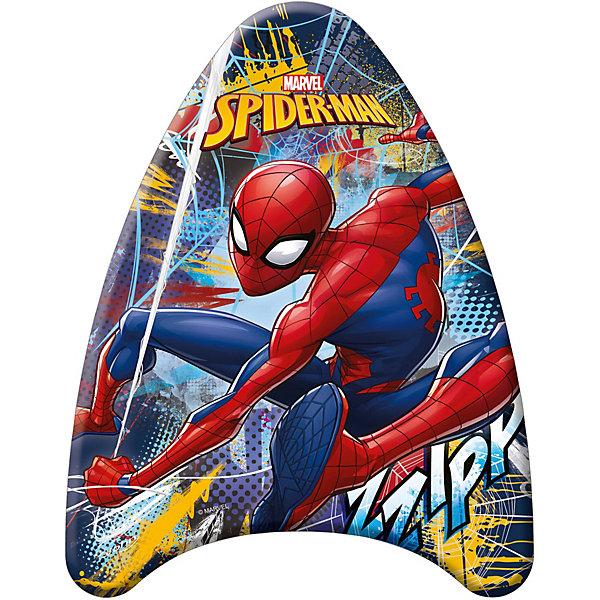 Доска для плавания (малая), Человек-ПаукКруги и нарукавники<br>Доска для плавания (малая), Человек-Паук (Spider-Man).<br><br>Характеристика:<br><br>• Материал: пенопласт, ПВХ. <br>• Размер: 42х32х3,5 см <br>• Максимальная нагрузка: 30 кг <br>• Вес: 175 г.<br>• Треугольная обтекаемая форма, препятствующая опрокидыванию.<br>• Оформлена изображением Человека-Паука (Spider-Man) .<br><br>Внимание! <br>Не является спасательным средством! Использовать только под наблюдением опытного инструктора или при непосредственном участии родителей!<br><br>Доска с изображением любимого героя станет неизменным спутником вашего ребенка во время купания и игр в воде.  Доска изготовлена из высококачественного прочного материала, с использованием стойких, нетоксичных, безопасных для детей красителей. Имеет треугольную форму, препятствующую опрокидыванию и помогающую удерживаться на поверхности. <br><br>Доску для плавания (малую), Человек-Паук (Spider-Man), можно купить в нашем интернет-магазине.<br>Ширина мм: 35; Глубина мм: 420; Высота мм: 320; Вес г: 175; Цвет: разноцветный; Возраст от месяцев: 24; Возраст до месяцев: 72; Пол: Мужской; Возраст: Детский; SKU: 3168458;