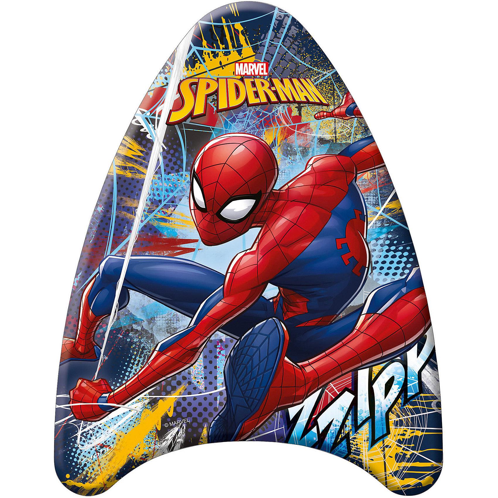 Доска для плавания (малая), Человек-ПаукКруги и нарукавники<br>Доска для плавания (малая), Человек-Паук (Spider-Man).<br><br>Характеристика:<br><br>• Материал: пенопласт, ПВХ. <br>• Размер: 42х32х3,5 см <br>• Максимальная нагрузка: 30 кг <br>• Вес: 175 г.<br>• Треугольная обтекаемая форма, препятствующая опрокидыванию.<br>• Оформлена изображением Человека-Паука (Spider-Man) .<br><br>Внимание! <br>Не является спасательным средством! Использовать только под наблюдением опытного инструктора или при непосредственном участии родителей!<br><br>Доска с изображением любимого героя станет неизменным спутником вашего ребенка во время купания и игр в воде.  Доска изготовлена из высококачественного прочного материала, с использованием стойких, нетоксичных, безопасных для детей красителей. Имеет треугольную форму, препятствующую опрокидыванию и помогающую удерживаться на поверхности. <br><br>Доску для плавания (малую), Человек-Паук (Spider-Man), можно купить в нашем интернет-магазине.<br><br>Ширина мм: 35<br>Глубина мм: 420<br>Высота мм: 320<br>Вес г: 175<br>Возраст от месяцев: 36<br>Возраст до месяцев: 144<br>Пол: Мужской<br>Возраст: Детский<br>SKU: 3168458