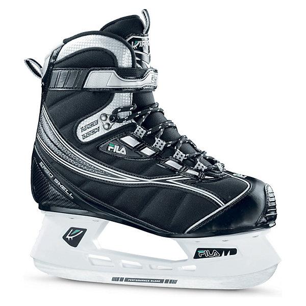 Ледовые коньки Viper, черный, FILAКоньки<br>Ледовые коньки Viper, черный, FILA - хоккейные коньки, которые обеспечат комфортное катание и отличную поддержку голеностопа. <br><br>Верх ботинка изготовлен из ПВХ. Жесткая конструкция поддерживает голеностоп и минимизирует риск получения травмы. Система крепления состоит из шнурков и удобной липучки. Подкладка из синтетических материалов способствует комфортной посадки ботинка.   Пластиковая подошва обеспечивает надежную конструкцию. Лезвия из нержавеющей стали с защитным напылением подходят для многократной заточки.<br><br><br>Дополнительная информация:<br><br>- Материал ботинка: ПВХ.<br>- Цвет: черный.<br>- Внутренний материал ботинка: синтетическая ткань, утеплитель.<br>- Тип фиксации: липучки, шнурки.<br>- Материал подошвы: пластик.<br>- Материал лезвия: нержавеющая сталь.<br><br>Ледовые коньки Viper, черный, FILA можно купить в нашем интернет-магазине.<br><br>Ширина мм: 460<br>Глубина мм: 350<br>Высота мм: 130<br>Вес г: 2600<br>Цвет: черный<br>Возраст от месяцев: 168<br>Возраст до месяцев: 1200<br>Пол: Мужской<br>Возраст: Детский<br>Размер: 41,40<br>SKU: 3169535