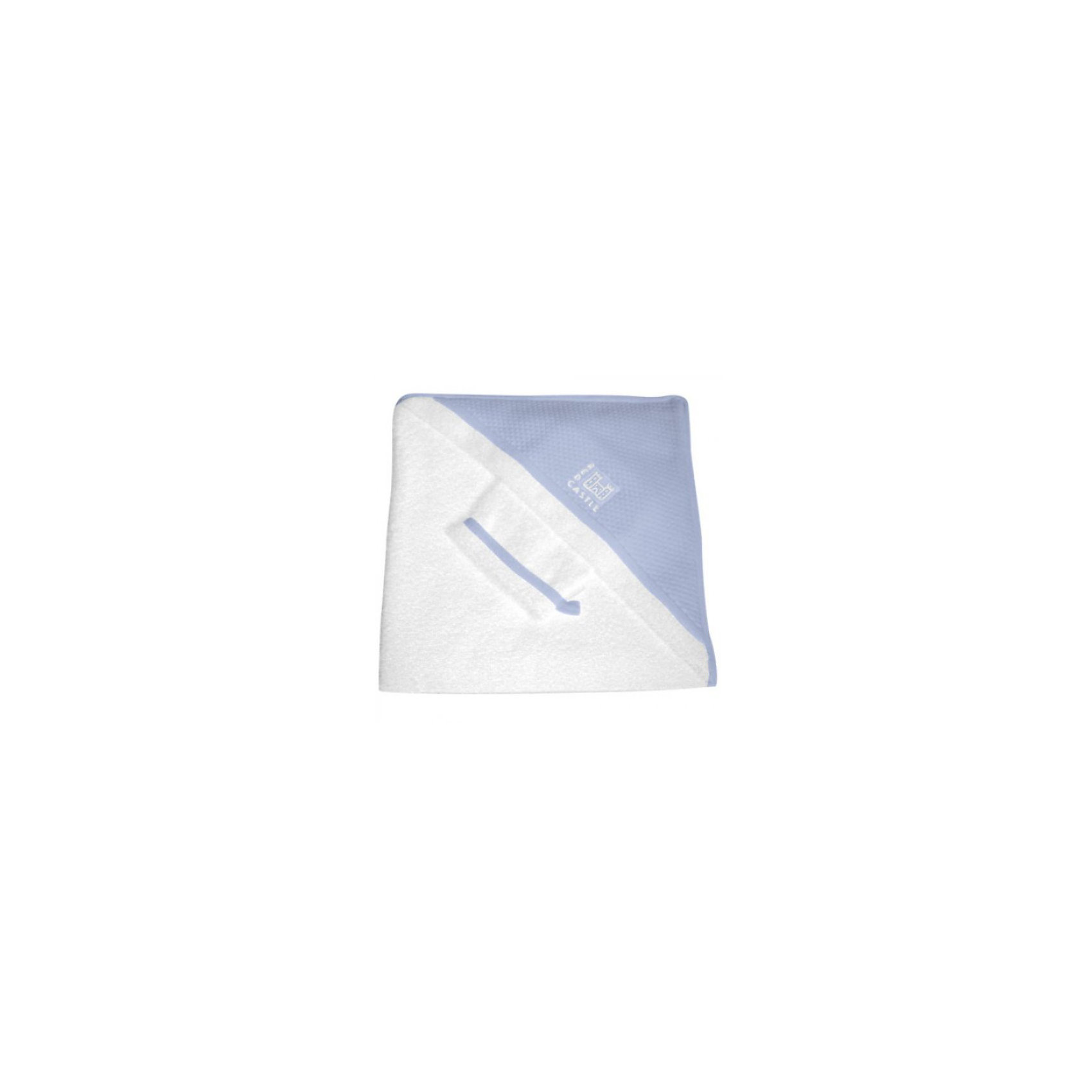 Махровое полотенце с уголком + варежка, Red Castle, голубойУголок-полотенце из нежной, хорошо впитывающей влагу высококачественной махровой ткани (400 г).<br><br>Благодаря большому размеру - 100 x 100 см, что почти в 2 раза больше обычных полотенец (1м? вместо 0,56 м? для размера 75 x 75 см) и уголку, покрытому фирменным хлопком Fleur de Coton, ребенок хорошо завернут и остается в тепле. Благодаря красивой упаковке, уголок-полотенце с варежкой будет идеальным подарком к рождению малыша.<br><br>Дополнительная информация:<br><br>- Размеры: 100 x 100 см<br>- Материал: хлопок<br>- Цвет: бело-голубой<br><br>Ширина мм: 340<br>Глубина мм: 40<br>Высота мм: 340<br>Вес г: 700<br>Цвет: голубой/белый<br>Возраст от месяцев: 0<br>Возраст до месяцев: 24<br>Пол: Унисекс<br>Возраст: Детский<br>SKU: 3170656