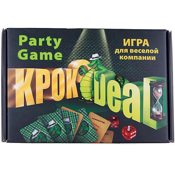 Игра КрокодилНастольные игры для всей семьи<br>Игра для вечеринок, очень веселая динамичная, способная задать настроение всей вечеринке, действует по принципу чем больше народу, тем веселее. Эту игру с трудом можно назвать настольной, нужно двигаться, объясняя слова и понятия своей команде за 1 минутукроко Deal.<br> В наборе:<br> ·335 карточек с заданиями (по 6 заданий на каждой)<br> ·15 дополнительных карточек «Актерский талант»<br> ·Песочные часы (1мин.)<br> ·Кубики - 2шт<br> ·Блокнот для записи очков<br><br>Ширина мм: 270<br>Глубина мм: 185<br>Высота мм: 55<br>Вес г: 900<br>Возраст от месяцев: 144<br>Возраст до месяцев: 1188<br>Пол: Унисекс<br>Возраст: Детский<br>SKU: 3173884