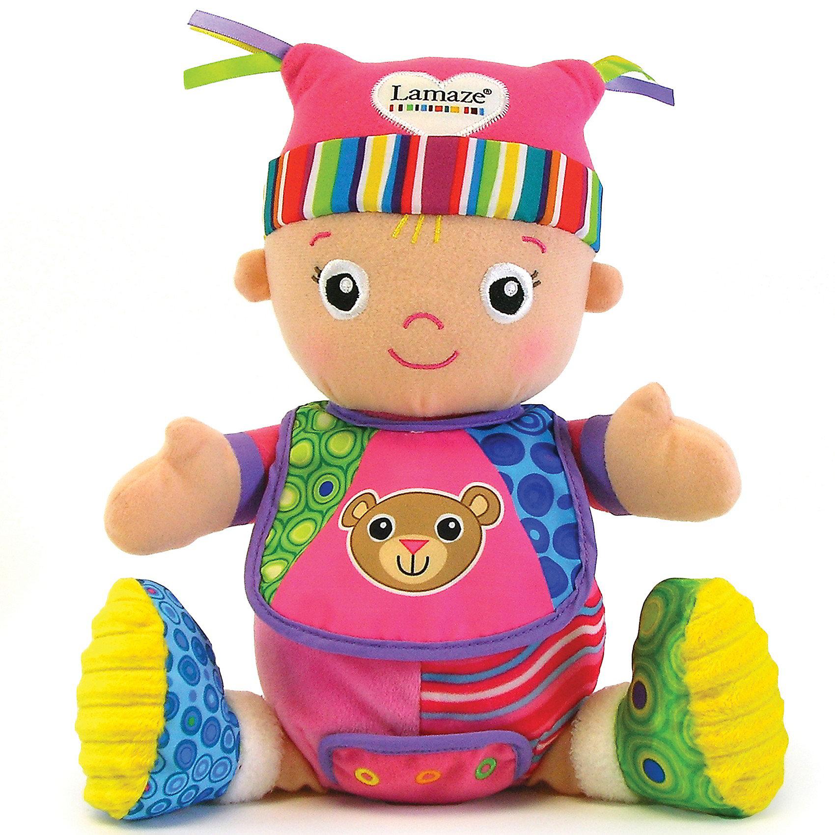 Игрушка Моя первая кукла Маша, LamazeЭта забавная игрушка обязательно понравится малышу и подарит ему много улыбок и положительных эмоций. Кукла выполнена из приятного на ощупь материала, плотно набита, одета в очень яркую и красивую одежду (не снимается) с шуршащими элементами. Выполнена из высококачественного гипоаллергенного материала безопасного для детей. <br><br>Дополнительная информация: <br><br>- Материал: текстиль.<br>- Размер: 28 см.<br>- Цвет: разноцветный.<br><br>Игрушку Моя первая кукла Маша, Lamaze можно купить в нашем магазине.<br><br>Ширина мм: 299<br>Глубина мм: 231<br>Высота мм: 172<br>Вес г: 275<br>Возраст от месяцев: 0<br>Возраст до месяцев: 24<br>Пол: Унисекс<br>Возраст: Детский<br>SKU: 3173891