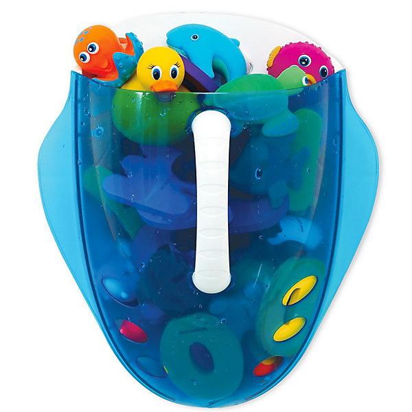Ковшик для игрушек в ванной Munchkin, голубойОрганайзеры для игрушек в ванну<br>Кувшин для сбора и хранения игрушек в ваннойMunchkin Scoop станет незаменимой вещью для всех любителей плескаться в пене с забавными игрушками!<br><br>Каждому родителю хочется, чтобы малыш купался с удовольствием, но при этом в ванной комнате поддерживался порядок. Если Вы не любите собирать мокрые игрушки, то Вам обязательно понравится кувшин Munchkin Scoop!<br><br>С помощью этого практичного кувшина Вы сможете быстро собрать игрушки для купания, просто зачерпнув их в воде, а благодаря прозрачному корпусу видно, какие игрушки находятся внутри. Через отверстия в нижней части кувшина вода быстро вытекает из него, а удобный крючок позволит легко подвесить кувшин в удобном для Вас месте и хранить в нем игрушки для следующего купания!<br><br>Дополнительная информация:<br><br>- быстрый и просто способ собирать игрушки из ванной<br>- тонированная прозрачная поверхность позволяет видеть игрушки<br>- отверстия в нижней части обеспечивают слив воды<br>- имеется крючок для подвешивания <br>- игрушки в комплект не входят<br>- Размер ковшика: 27 см х 31 см х 16 см.<br>- Размер упаковки: 29 см х 32,5 см х 16,5 см.<br><br>Кредо Munchkin, американской компании с 20-летней историей, - избавить мир от надоевших и прозаических товаров, искать умные инновационные решения, которые превращают обыденные задачи в опыт, приносящий удовольствие. Понимая, что наибольшее значение в быту имеют именно мелочи, компания создает уникальные товары, которые помогают поддерживать порядок, организовывать пространство, облегчают уход за детьми. Недаром компания имеет уже более 140 патентов и изобретений, используемых в создании ее неповторимой и оригинальной продукции. Munchkin делает жизнь родителей легче!<br>Ширина мм: 360; Глубина мм: 320; Высота мм: 180; Вес г: 600; Возраст от месяцев: 0; Возраст до месяцев: 48; Пол: Унисекс; Возраст: Детский; SKU: 3174948;