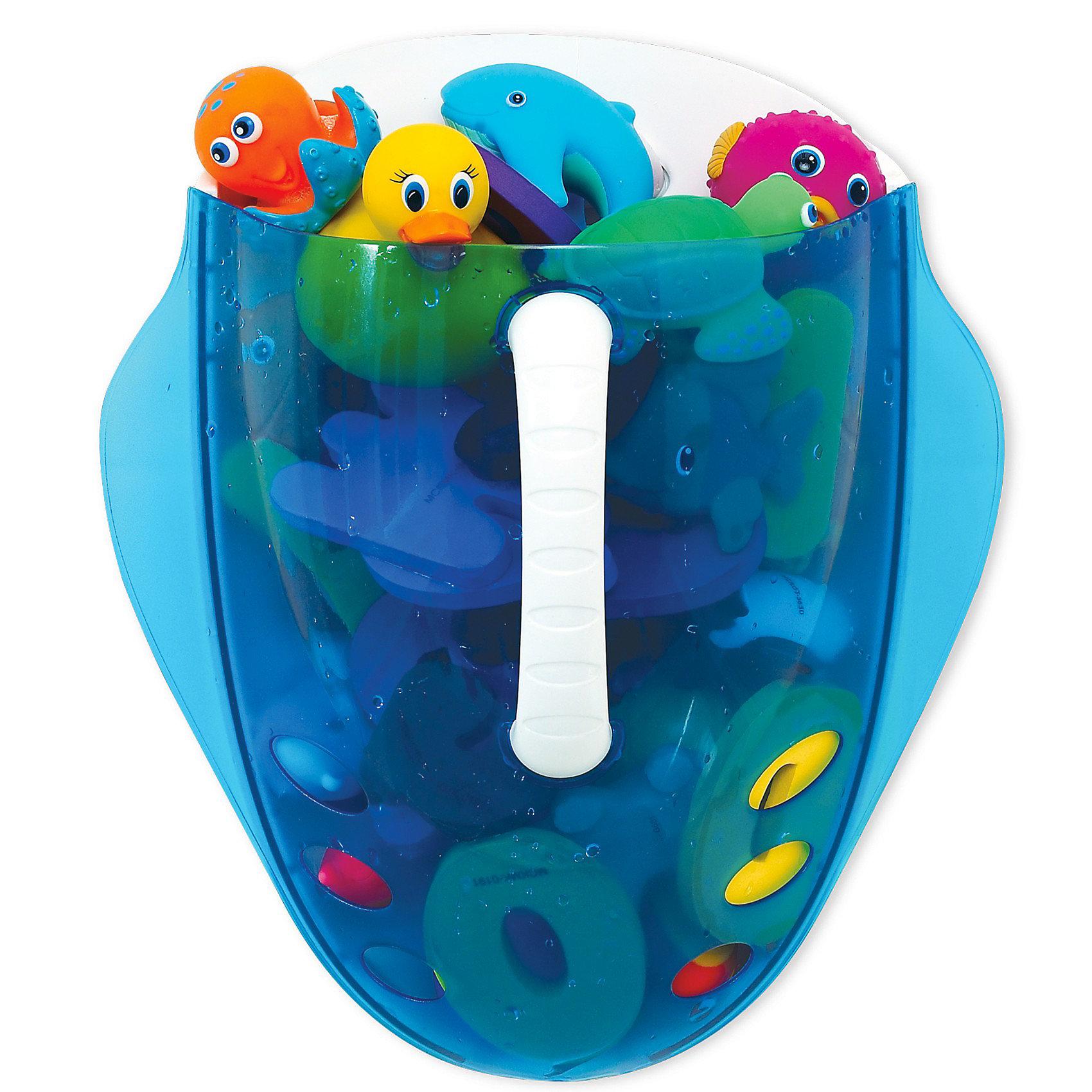 Ковшик для игрушек в ванной Munchkin, голубойПрочие аксессуары<br>Кувшин для сбора и хранения игрушек в ваннойMunchkin Scoop станет незаменимой вещью для всех любителей плескаться в пене с забавными игрушками!<br><br>Каждому родителю хочется, чтобы малыш купался с удовольствием, но при этом в ванной комнате поддерживался порядок. Если Вы не любите собирать мокрые игрушки, то Вам обязательно понравится кувшин Munchkin Scoop!<br><br>С помощью этого практичного кувшина Вы сможете быстро собрать игрушки для купания, просто зачерпнув их в воде, а благодаря прозрачному корпусу видно, какие игрушки находятся внутри. Через отверстия в нижней части кувшина вода быстро вытекает из него, а удобный крючок позволит легко подвесить кувшин в удобном для Вас месте и хранить в нем игрушки для следующего купания!<br><br>Дополнительная информация:<br><br>- быстрый и просто способ собирать игрушки из ванной<br>- тонированная прозрачная поверхность позволяет видеть игрушки<br>- отверстия в нижней части обеспечивают слив воды<br>- имеется крючок для подвешивания <br>- игрушки в комплект не входят<br>- Размер ковшика: 27 см х 31 см х 16 см.<br>- Размер упаковки: 29 см х 32,5 см х 16,5 см.<br><br>Кредо Munchkin, американской компании с 20-летней историей, - избавить мир от надоевших и прозаических товаров, искать умные инновационные решения, которые превращают обыденные задачи в опыт, приносящий удовольствие. Понимая, что наибольшее значение в быту имеют именно мелочи, компания создает уникальные товары, которые помогают поддерживать порядок, организовывать пространство, облегчают уход за детьми. Недаром компания имеет уже более 140 патентов и изобретений, используемых в создании ее неповторимой и оригинальной продукции. Munchkin делает жизнь родителей легче!<br><br>Ширина мм: 360<br>Глубина мм: 320<br>Высота мм: 180<br>Вес г: 600<br>Возраст от месяцев: 0<br>Возраст до месяцев: 48<br>Пол: Унисекс<br>Возраст: Детский<br>SKU: 3174948