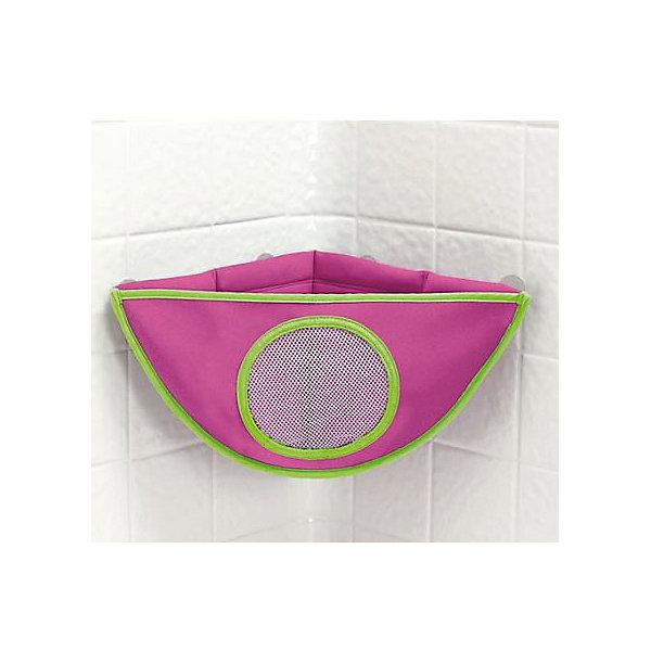 Органайзер для игрушек в ванной, Munchkin, розовыйОрганайзеры для игрушек в ванну<br>Органайзер для игрушек в ванной Munchkin<br><br>Если количество игрушек для купания стремительно растет, угловой органайзер Munchkinстанет идеальным решением для вашей ванной! Вы легко увидите, какие игрушки хранятся в нем.<br><br>Стойкий материал - неопрен -  и сливные отверстия обеспечат чистоту и сухость игрушек при хранении и защитят от плесени.<br><br>Дополнительная информация:<br><br>- помогает хранить игрушки в порядке и в сухости<br>- изготовлен из мягкого материала - неопрена, устойчивого к плесени<br>- 4 присоски прочно крепятся и регулируются слева направо<br>- Размер органайзера: 37 см х 27 см х 21 см.<br><br>ВНИМАНИЕ! Данный артикул имеется в наличии в разных цветовых исполнениях. К сожалению, заранее выбрать определенный цвет невозможно. При заказе нескольких позиций возможно получение одинаковых.<br><br>Кредо Munchkin, американской компании с 20-летней историей: избавить мир от надоевших и прозаических товаров, искать умные инновационные решения, которые превращает обыденные задачи в опыт, приносящий удовольствие. Понимая, что наибольшее значение в быту имеют именно мелочи, компания создает уникальные товары, которые помогают поддерживать порядок, организовывать пространство, облегчают уход за детьми – недаром компания имеет уже более 140 патентов и изобретений, используемых в создании ее неповторимой и оригинальной продукции. Munchkin делает жизнь родителей легче!<br>Ширина мм: 153; Глубина мм: 217; Высота мм: 52; Вес г: 184; Возраст от месяцев: 6; Возраст до месяцев: 72; Пол: Унисекс; Возраст: Детский; SKU: 3174952;