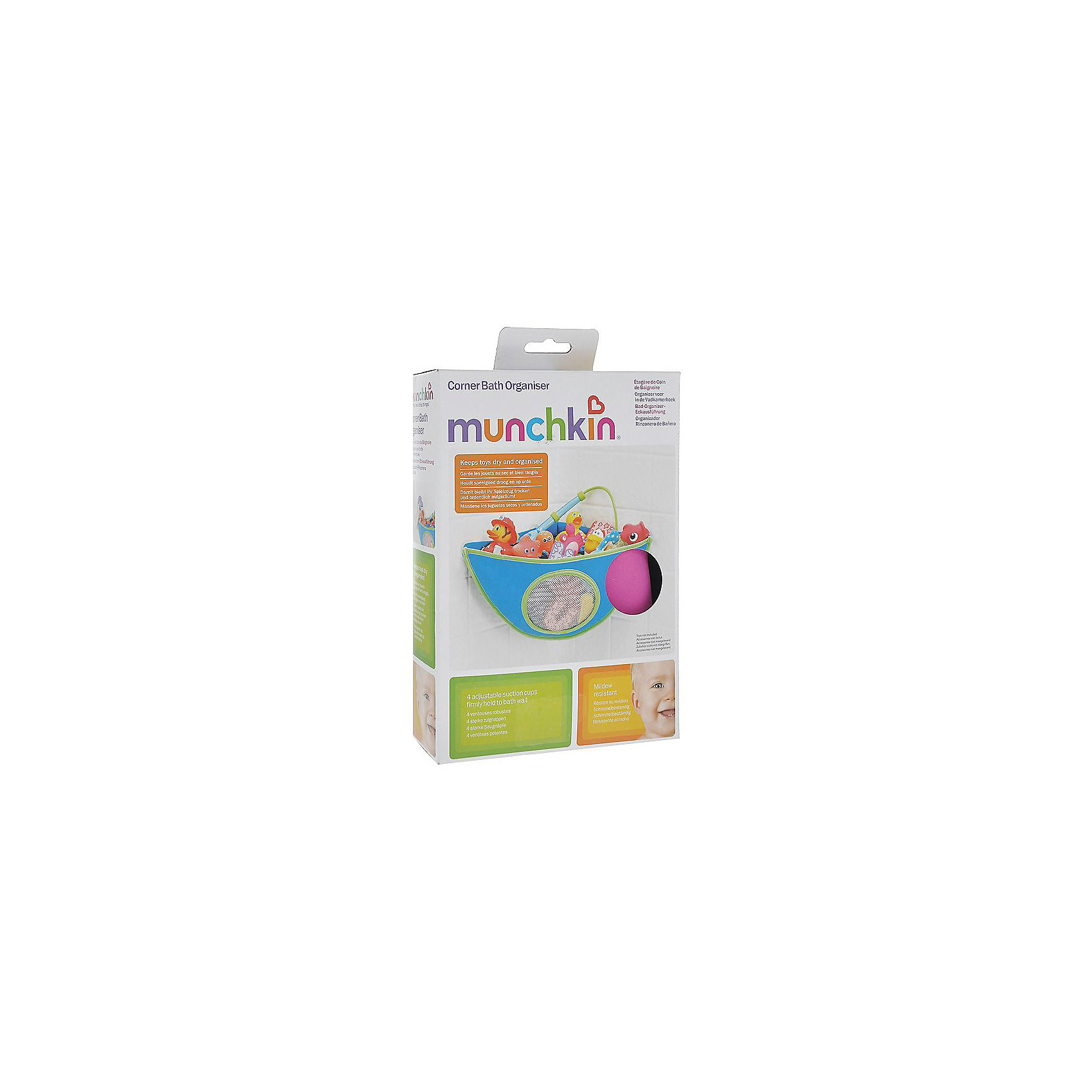 Органайзер для игрушек в ванной, Munchkin, розовый (munchkin)