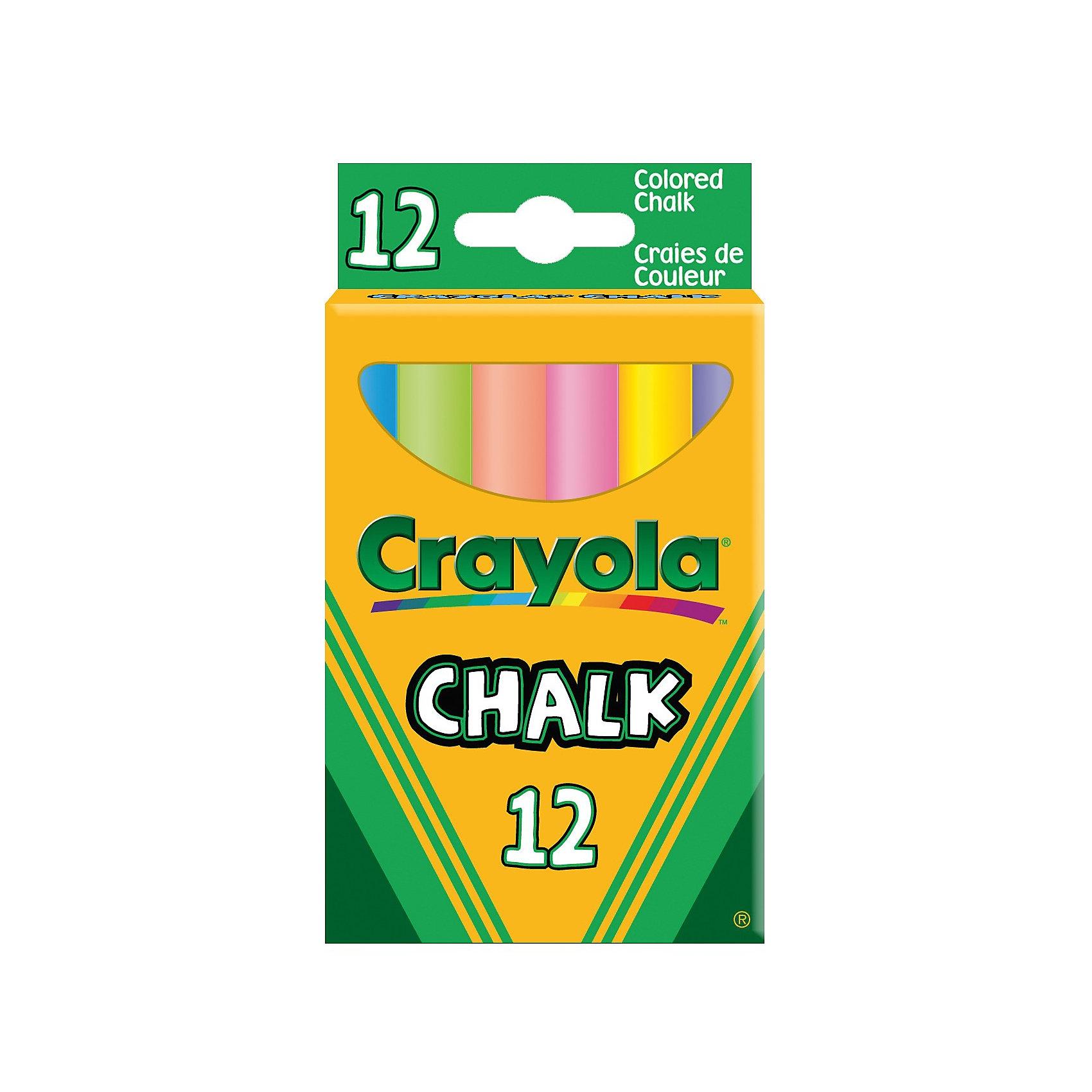 12 мелков с пониженным выделением пыли, CrayolaМелки для асфальта<br>Ваш ребёнок любит рисовать мелками, но после таких занятий творчеством Вам приходится оттирать следы от мела? Данный набор из 12 цветных мелков от Крайола - это настоящий подарок не только для малышей, но и для их мам, которым больше не придется с огромным трудом оттирать с детской одежды следы мела. <br><br>Мел с пониженным выделением пыли торговой марки Crayola не пачкает одежду и руки малыша. Он не рассыпается и не вызывает у ребенка аллергических реакций. Яркие цветные мелки, размер которых составляет 1х8 см, могут быть использованы для рисования на асфальте или доске. Такие мелки с пониженным выделением пыли широко используются для проведения занятий в детских садах и школах. Пусть детство Вашего ребёнка будет весёлым и красочным!<br><br>12 мелков с пониженным выделением пыли от Crayola (Крайола) можно купить в нашем интернет-магазине.<br><br>Ширина мм: 60<br>Глубина мм: 20<br>Высота мм: 105<br>Вес г: 120<br>Возраст от месяцев: 36<br>Возраст до месяцев: 108<br>Пол: Унисекс<br>Возраст: Детский<br>SKU: 3175006