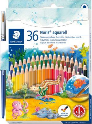 Карандаш акварельный Noris Club набор 36 цветов + кисть. Staedtler