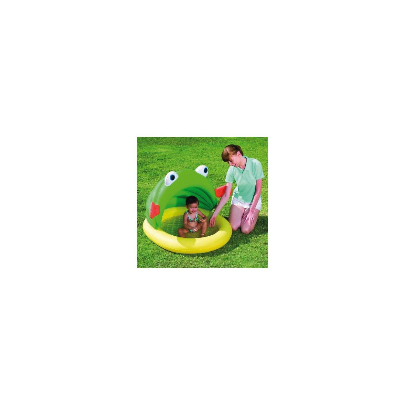 Bestway Детский бассейн с навесом от солнца Лягушонок, Bestway бассейн bestway 457х107см бв57127