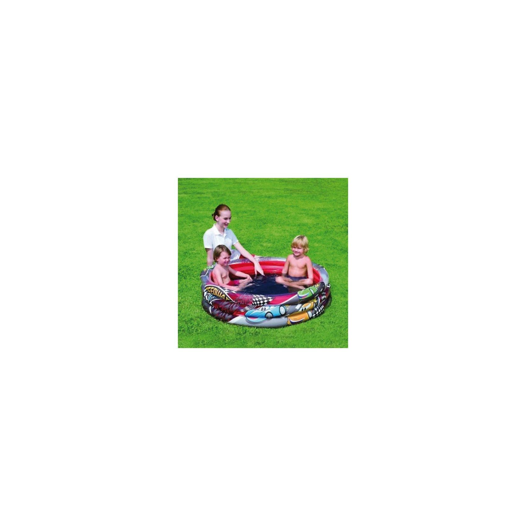 Bestway Детский круглый бассейн Speedway Friends, Bestway бассейн bestway 457х107см бв57127