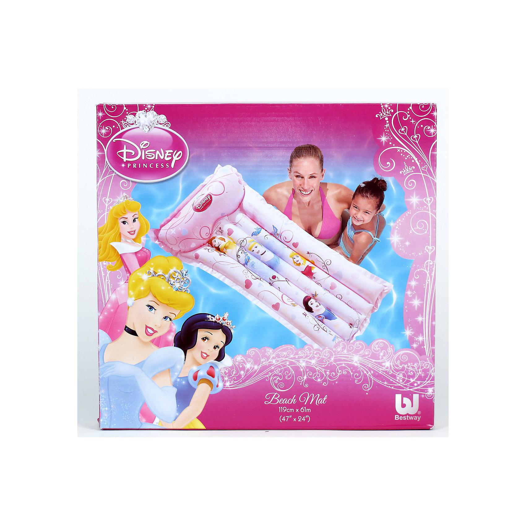 Bestway Надувной пляжный матрас 119х61см, Принцессы Дисней bestway надувной пляжный матрас 119х61см принцессы дисней