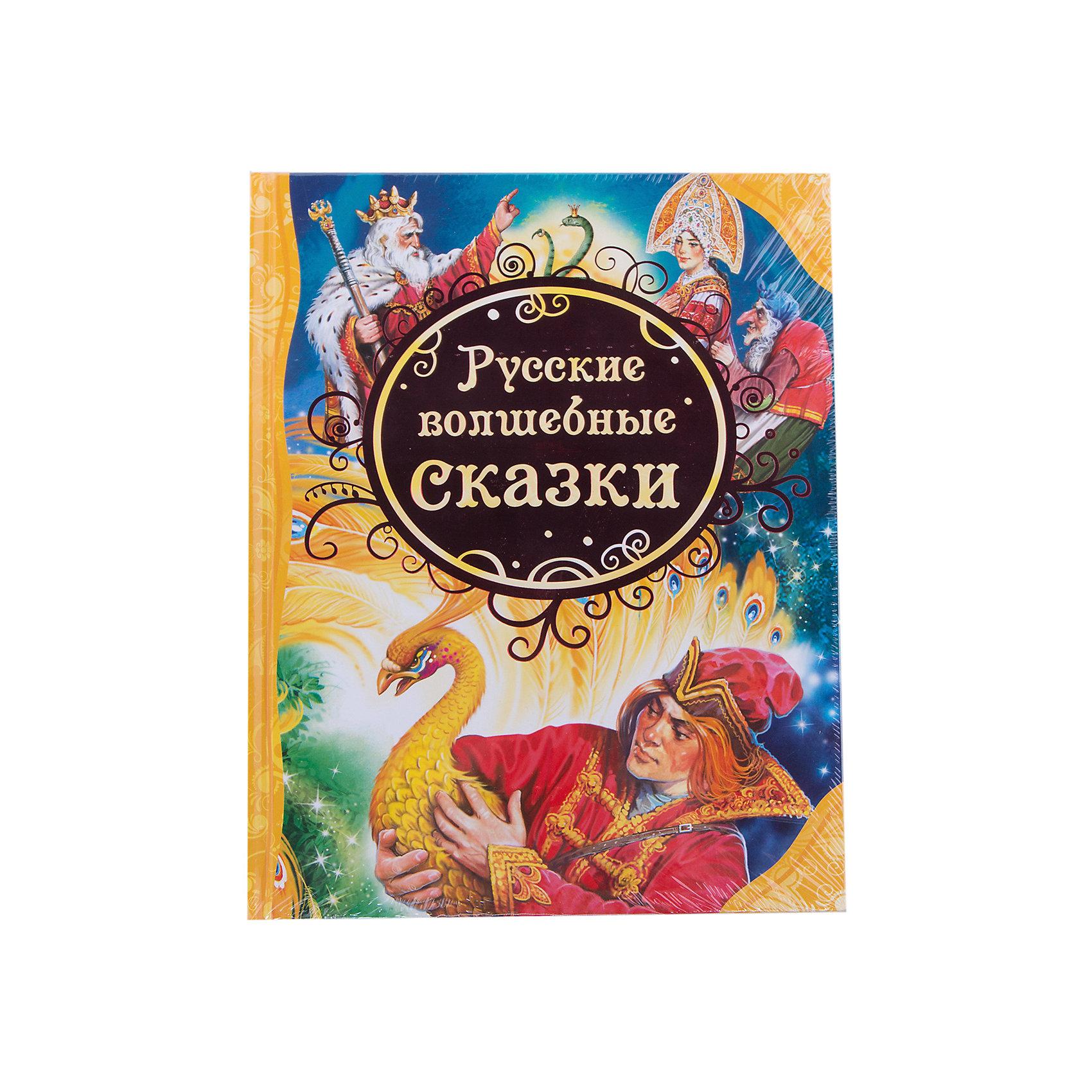 Русские волшебные сказкиРусские сказки<br>В книгу вошли самые известные русские волшебные сказки: <br>«Марья Моревна»<br>«Никита Кожемяка» <br>«Жар-птица и Василиса-царевна» <br>«Финист – ясный сокол» и другие.<br><br>Дополнительная информация:<br><br>Яркие иллюстрации на каждой странице. <br>Крупный шрифт. <br>Тексты сказок адаптирован для детей от 3 до 5 лет. <br>Художник В. Нечитайло<br>Тип переплета (Обложка): Твердая<br>Формат (мм): 196x255<br>Количество страниц: 144<br>Наличие иллюстраций: цветные<br><br>Русские волшебные сказки можно купить в нашем магазине.<br><br>Ширина мм: 263<br>Глубина мм: 202<br>Высота мм: 15<br>Вес г: 520<br>Возраст от месяцев: 36<br>Возраст до месяцев: 72<br>Пол: Унисекс<br>Возраст: Детский<br>SKU: 3177444