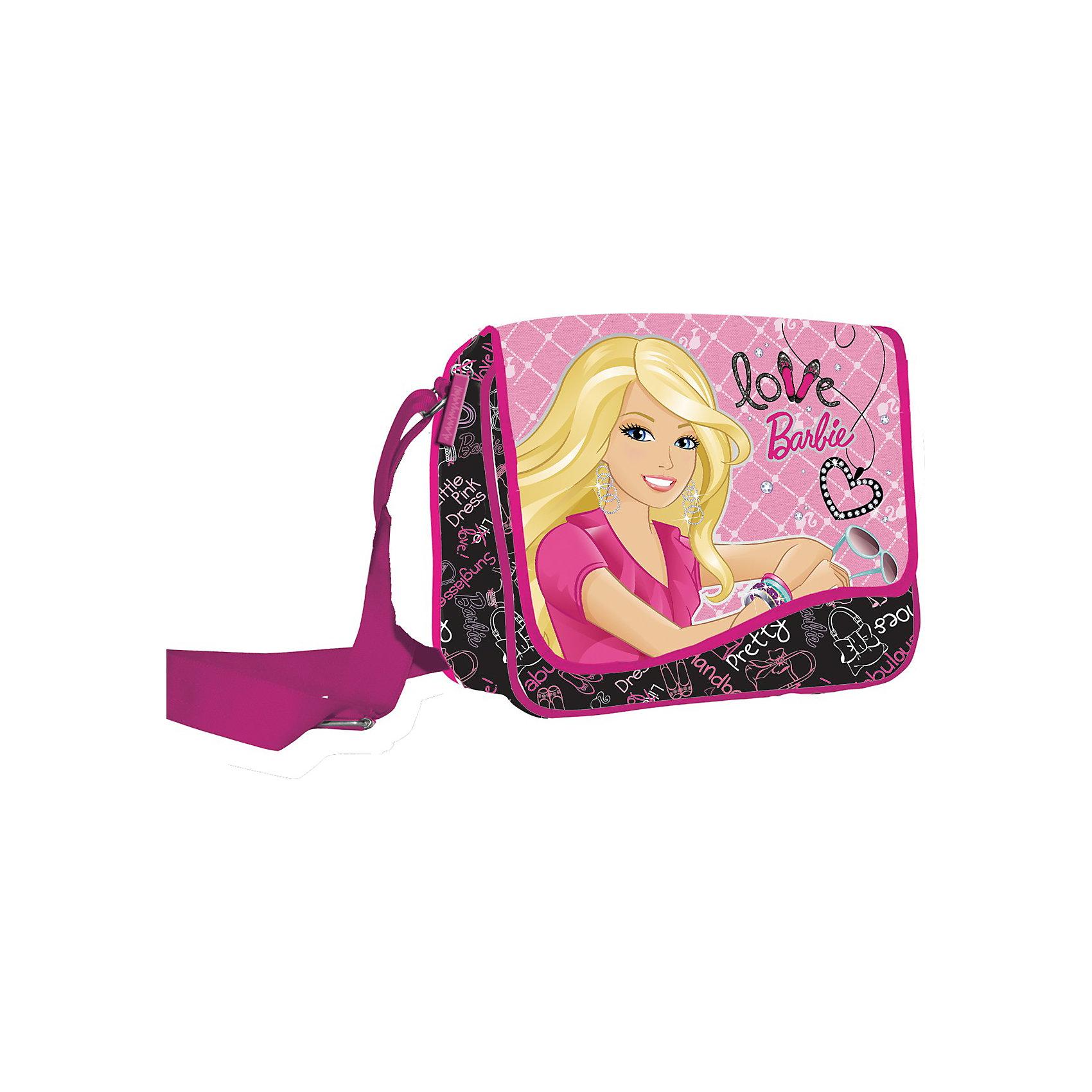 Barbie Сумочка. Размер 21 х 27 х 8 смДетские сумки<br>Любая девчонка мечтает о стильной штучке от Barbie. Стильная сумка с изображением Barbie обязательно понравится Вашей дочке.<br>Размер 21 х 27 х 8 см.<br>Ремень на плечо.<br><br>Ширина мм: 210<br>Глубина мм: 270<br>Высота мм: 80<br>Вес г: 350<br>Возраст от месяцев: 84<br>Возраст до месяцев: 144<br>Пол: Женский<br>Возраст: Детский<br>SKU: 3178601