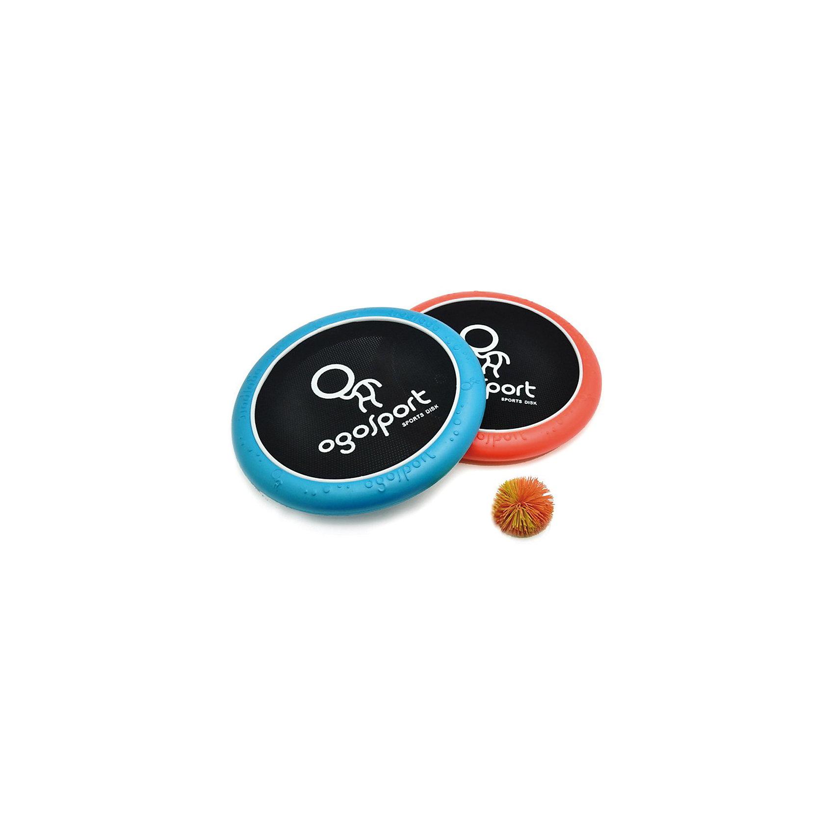 OgoSport Игра СтандартOgoSport (Огоспорт) - это спортивная игра огодисками. Комплект для игры Огоспорт состоит из 2 огодисков, и одного мячика. <br>Огодиск - это специальный диск, состоящий из пенообразного материала, с натянутой по центру эластичной сеточкой. Огодиск имеет эргономичный дизайн, его приятно держать в руке, он обладает отличными аэродинамическими характеристиками, благодаря чему огодиск прекрасно подходит для спортивной игры фрисби.<br><br>Играть в Огоспорт просто: можно использовать Огодиски в качестве фрисби или же отбивать дисками мячик как при игре в бадминтон.<br><br>Дополнительная информация:<br><br>- В комплекте: огодиск - 2 шт, огомяч - 1шт;<br>- Прекрасный вариант для игр на улице;<br>- Понравится как взрослым, так и детям;<br>- Материал: пластик, текстиль;<br>- Диаметр огодиска – 29 см, диаметр мячика – 6 см;<br>- Размер упаковки: 29 х 29 х 7 см;<br>- Вес: 360г<br><br>Игру Огоспорт (Ogosport) Стандарт можно купить в нашем интернет-магазине.<br><br>Ширина мм: 290<br>Глубина мм: 60<br>Высота мм: 320<br>Вес г: 360<br>Возраст от месяцев: 36<br>Возраст до месяцев: 1188<br>Пол: Унисекс<br>Возраст: Детский<br>SKU: 3180382