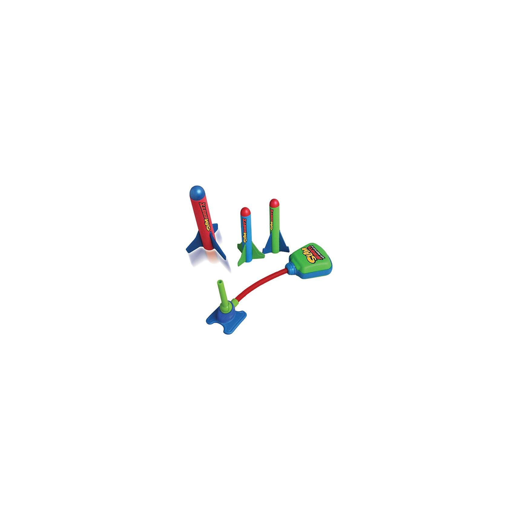 Zing Ракетная установка Мини (Slam Shotz)Ракетная установка Slam Shotz — это уменьшенная копия Zomp Rocket специально для игр дома. В набор входят:<br>ракетная установка, способная сделать выстрел до 25 метров в высоту и 3 весёлые и мягкие ракеты.<br> Slam Shotz - это отличный способ немного отвлечься от рабочего процесса, но Slam Shotz найдут место и в самых обычных детских играх — с ним можно, например, устроить соревнование. <br> Не переживайте, что ребенок  может разбить стекло в серванте или поранится — ракеты созданы для безопасных развлечений, из мягкого и легкого материала.<br><br>Ширина мм: 110<br>Глубина мм: 30<br>Высота мм: 200<br>Вес г: 300<br>Возраст от месяцев: 60<br>Возраст до месяцев: 1188<br>Пол: Унисекс<br>Возраст: Детский<br>SKU: 3180393