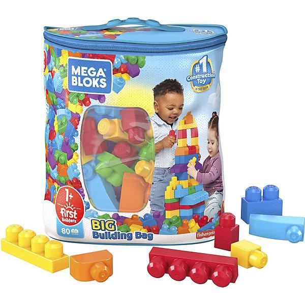 Конструктор 80 деталей First Builders, MEGA BLOKSПластмассовые конструкторы<br>Характеристики:<br><br>• тип игрушки: конструктор;<br>• возраст: от 1 года;<br>• количество деталей: 80 шт;<br>• размер: 30,5х17,8х35,6 см;<br>• бренд: Mega Bloks;<br>• материал: пластик;<br>• тип упаковки: сумка;<br>• страна бренда: Канада.<br><br>Конструктор 80 деталей First Builders, MEGA BLOKS – это конструктор для детей от 12 месяцев, который состоит из 80 деталей. Они изготовлены из прочного пластика зеленого, голубого, синего, красного и желтого цвета. Детали идеально стыкуются между собой и надежно крепятся. Из них можно построить дом, собрать машину, динозавра и многое другое. Занятие поможет развить творческое воображение и усидчивость. Время за ним пролетит интересно и незаметно. <br><br>Конструктор 80 деталей First Builders, MEGA BLOKS  можно купить в нашем интернет-магазине.<br>Ширина мм: 372; Глубина мм: 292; Высота мм: 182; Вес г: 1244; Возраст от месяцев: 12; Возраст до месяцев: 48; Пол: Унисекс; Возраст: Детский; SKU: 3180430;