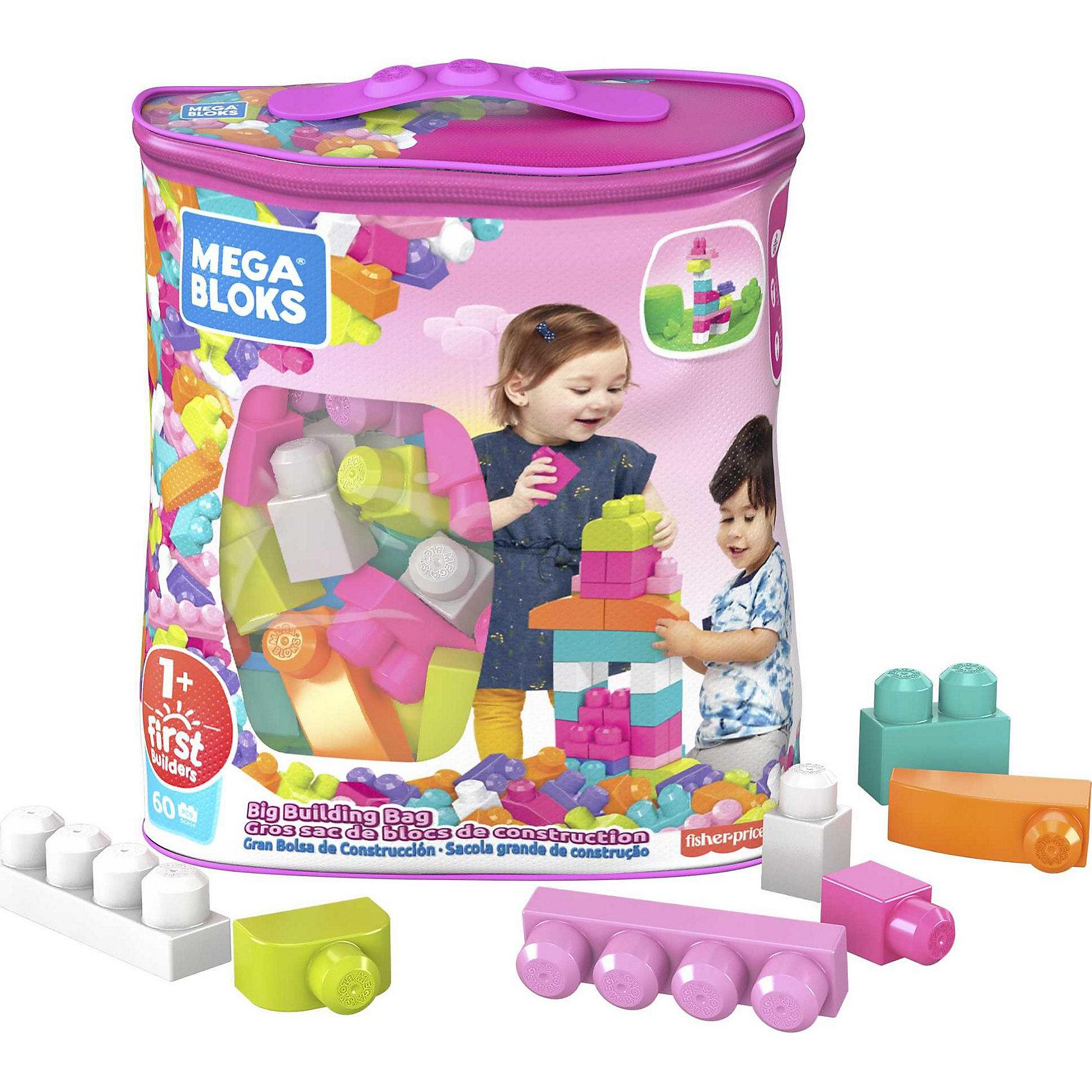 Конструктор из 60 деталей,  MEGA BLOKS First BuildersБольшой конструктор обязательно понравится детям! Детали конструктора окрашены в яркие цвета, из них можно построить что угодно, начиная от высокого здания и заканчивая миниатюрными машинками. Конструирование прекрасно развивает мелкую моторику, цветовосприятие, внимание, фантазию, образное и пространственное мышление. Все детали набора выполнены из высококачественного пластика, с применением экологичных красителей безопасных для детей. <br><br>Дополнительная информация:<br><br>- Материал: пластик.<br>- Количество деталей: 60.<br>- Размер: 15 х 35 х 30 см.<br>- Удобная сумка для хранения блоков. <br>- Конструктор совместим с наборами Mega Bloks First Builders.<br><br>Конструктор из 60 деталей, в ассортименте, MEGA BLOKS (Мега Блок) First Builders, можно купить в нашем магазине.<br><br>Ширина мм: 348<br>Глубина мм: 289<br>Высота мм: 180<br>Вес г: 930<br>Возраст от месяцев: 12<br>Возраст до месяцев: 48<br>Пол: Женский<br>Возраст: Детский<br>SKU: 3180433