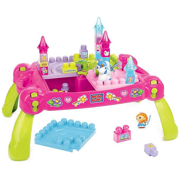 Стол для конструирования Маленькая принцесса First Builders MEGA BLOKSПластмассовые конструкторы<br>Стол для конструирования Маленькая принцесса First Builders Mega Bloks (Мега Блокс)<br><br>Стол для конструирования Маленькая принцесса отлично подойдет детям дошкольного возраста. В набор входя двадцать пять сверкающих строительных блоков, а также принцесса и единорог! Из деталей можно строить высокие башни, и замки, которые можно украсить входящими в набор наклейками. Когда играть закончили, можно просто сложить все детали внутрь столика и снять ножки - хранить и брать  в дорогу очень удобно. Такая игрушка помогает развить воображение, координацию движений и образное мышление. <br>Стол и детали изготовлены из высококачественных, легких и безопасных для детей материалов, детали окрашены яркими красителями, устойчивыми к выгоранию и истиранию. В комплекте - 30 деталей.<br><br>Дополнительная информация:<br><br>цвет: разноцветный;<br>материал: пластик;<br>комплектация: 30 деталей.<br><br>Стол для конструирования Маленькая принцесса First Builders Mega Bloks (Мега Блокс) можно купить в нашем магазине.<br>Ширина мм: 611; Глубина мм: 413; Высота мм: 139; Вес г: 3137; Возраст от месяцев: 12; Возраст до месяцев: 48; Пол: Женский; Возраст: Детский; SKU: 3180445;