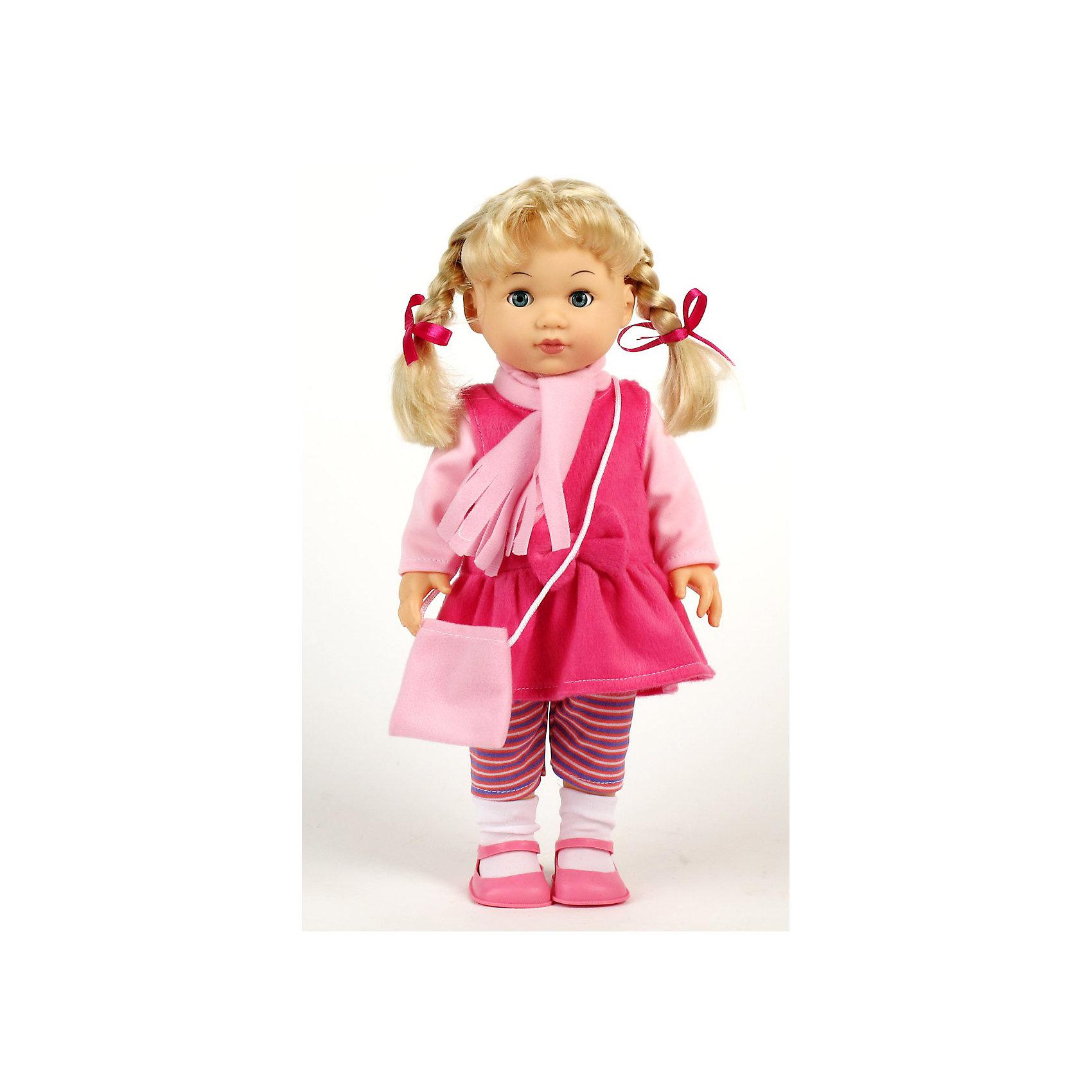 Пупс Карапуз 38 смПупс Карапуз станет лучшей подружкой девочки. Кукла умеет разговаривать (знает 100 фраз, поет песенку из мультфильма, рассказывает 2 стихотворения и 2 скороговорки, загадывает 2 загадки), смеяться, и помогать ребенку в обучении.<br><br>Дополнительная информация:<br><br>- Высота пупса: 38 см.<br>- Материал: пластик, текстиль.<br>- Размер упаковки: 23 х 10,5 х 39,5 см.<br>- Кукла знает 100 фраз, 2 загадки, 2 скороговрки, 2 стихотворения<br>- Фразы звучат подряд при последовательном нажатии на кнопку<br>- Работает от батареек<br><br>Пупса Карапуз 38 см можно купить в нашем магазине.<br><br>Ширина мм: 100<br>Глубина мм: 230<br>Высота мм: 400<br>Вес г: 900<br>Возраст от месяцев: 36<br>Возраст до месяцев: 144<br>Пол: Женский<br>Возраст: Детский<br>SKU: 3180974