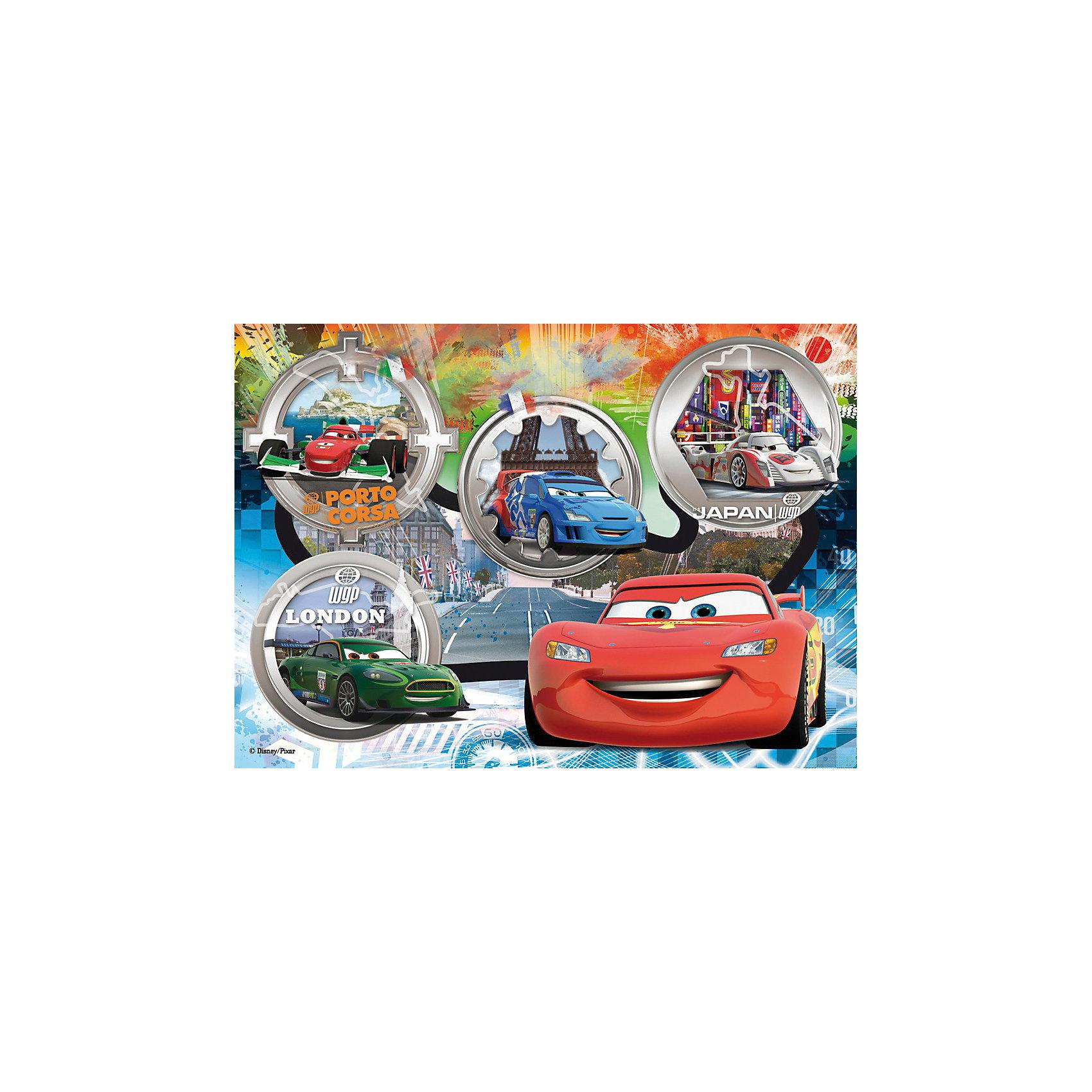 Пазл Тачки. Мировые ралли, 24 детали, ДиснейПазл Тачки. Мировые ралли, Дисней (Disney) - увлекательный набор для творчества, который будет интересен детям всех возрастов и даже их родителям. С помощью входящих в набор деталей Вы сможете собрать красочную картинку с изображением персонажей из популярного диснеевского мультфильма Тачки (Cars). Пазл изготовлен из прочного картона высокого качества, изображение напечатано на бумаге, не отражающей свет, благодаря чему отчетливо видны все детали картины. Составные элементы пазла отлично соединяются между собой, при этом соединения практически незаметны.<br> <br>Собирание пазла способствует развитию логического мышления, внимания, воображения и мелкой моторики рук.<br><br>Дополнительная информация:<br><br>- Материал: картон, бумага. <br>- Размер собранного пазла: 68 х 48 см.<br>- Размер упаковки: 39,5 х 6,5 х 27,5 см. <br><br>Пазл Тачки. Мировые ралли, Дисней можно купить в нашем интернет-магазине.<br><br>Ширина мм: 404<br>Глубина мм: 282<br>Высота мм: 68<br>Вес г: 838<br>Возраст от месяцев: 48<br>Возраст до месяцев: 72<br>Пол: Мужской<br>Возраст: Детский<br>Количество деталей: 24<br>SKU: 3183819