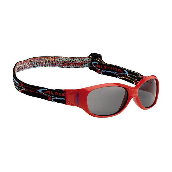 Очки солнцезащитные SPORTS FLEXXY KIDS, красные, ALPINA